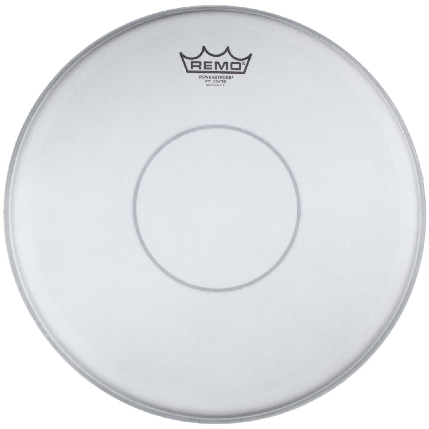 """Remo 14"""" Powerstroke 77 Coated Drum Head with Clear Dot"""
