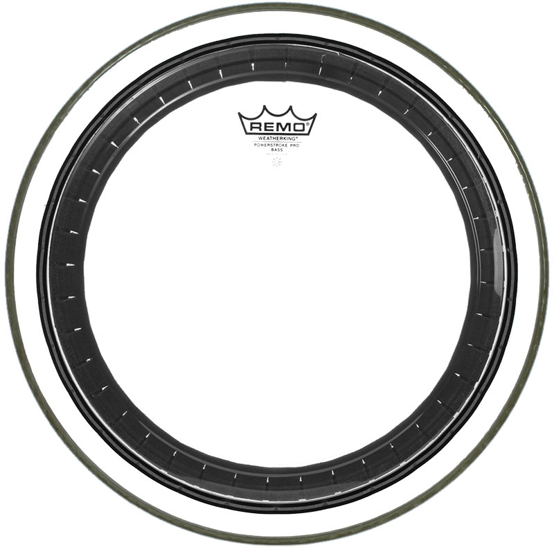 "Remo 24"" Powerstroke Pro Clear Bass Drum Head"
