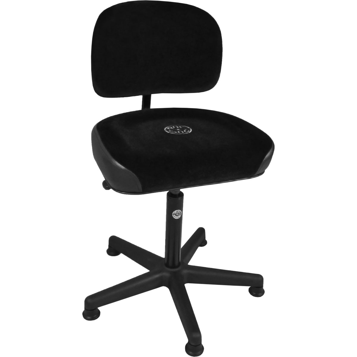 Roc-n-Soc Lunar Gas Lift Drum Throne with Square Seat & Back Rest in Black
