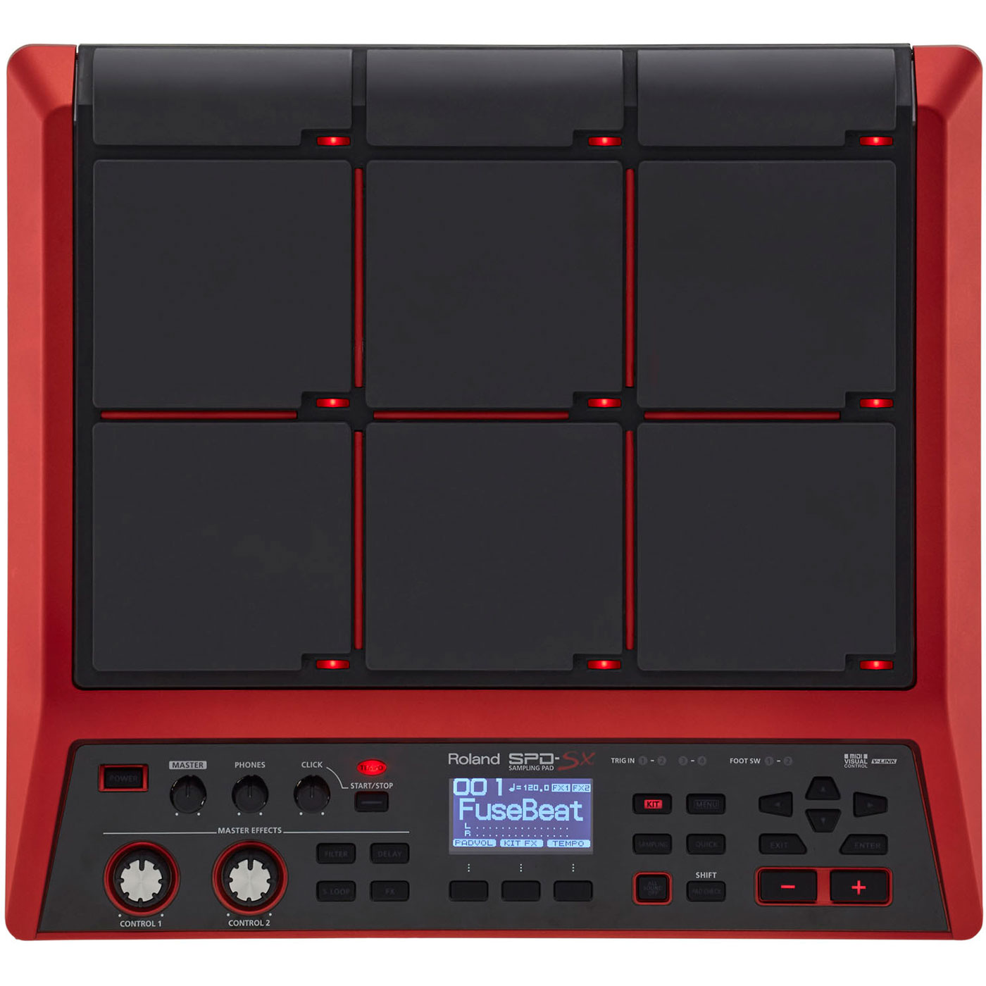 Roland Special Edition Enhanced Sampling Pad with Expanded Memory in Sparkling Red
