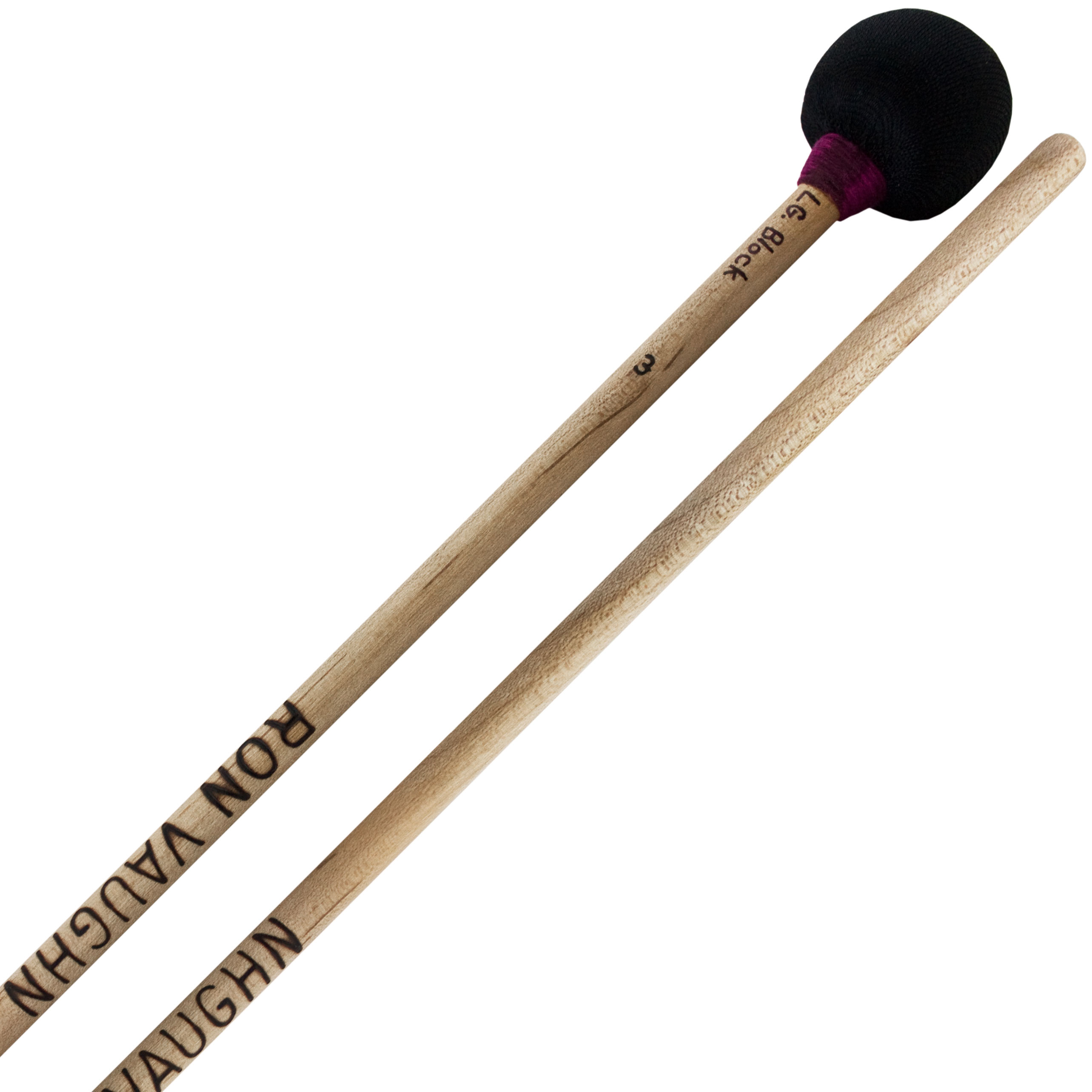 Ron Vaughn High Density Large Wood Block Mallets with Birch Shafts