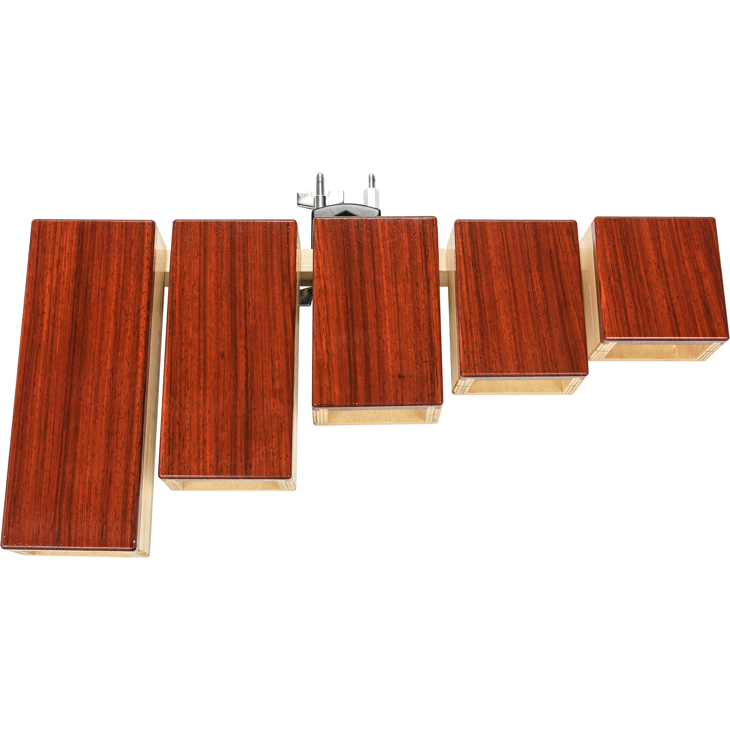 Rustic Percussion Padauk Temple Blocks (Stand not included)