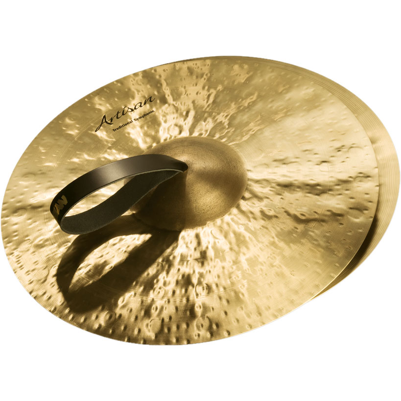 "Sabian 16"" Artisan Traditional Symphonic Medium-Light Crash Cymbal Pair"