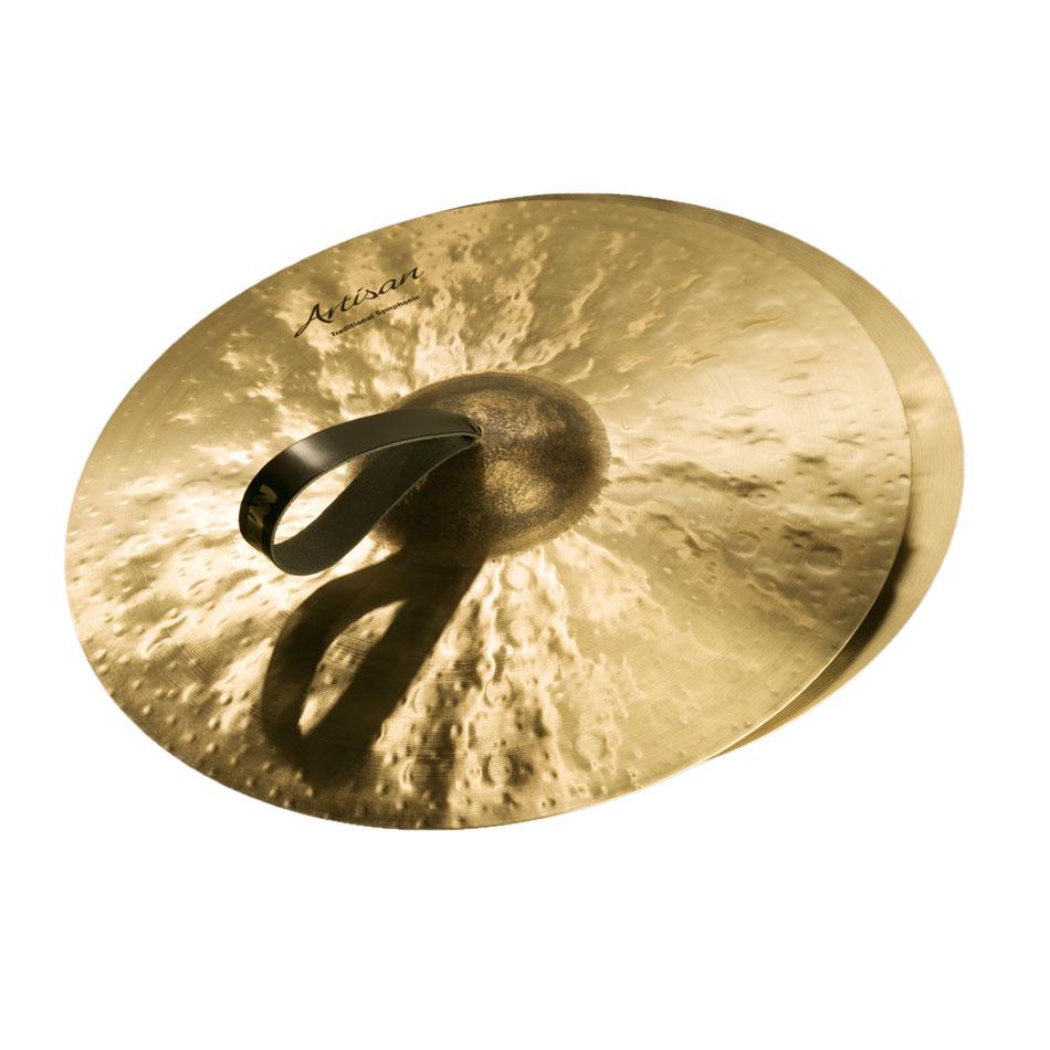 "Sabian 18"" Artisan Traditional Symphonic Medium-Light Crash Cymbal Pair"