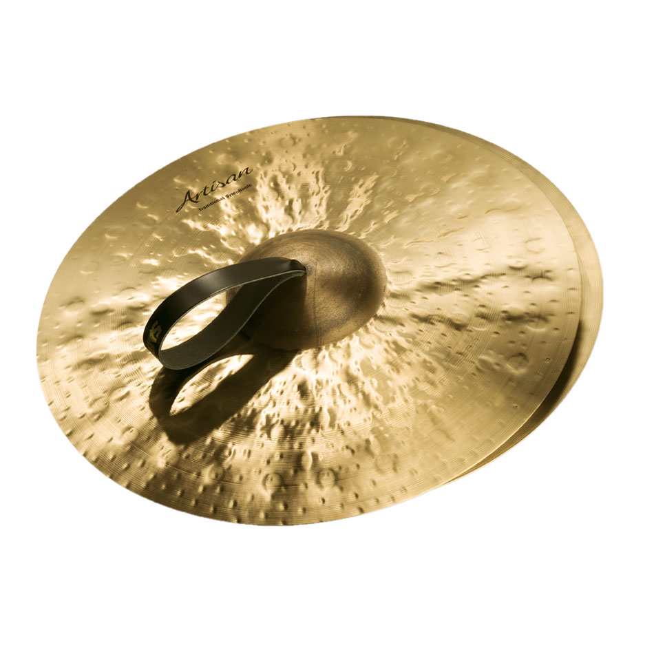 "Sabian 19"" Artisan Traditional Symphonic Medium-Light Crash Cymbal Pair"