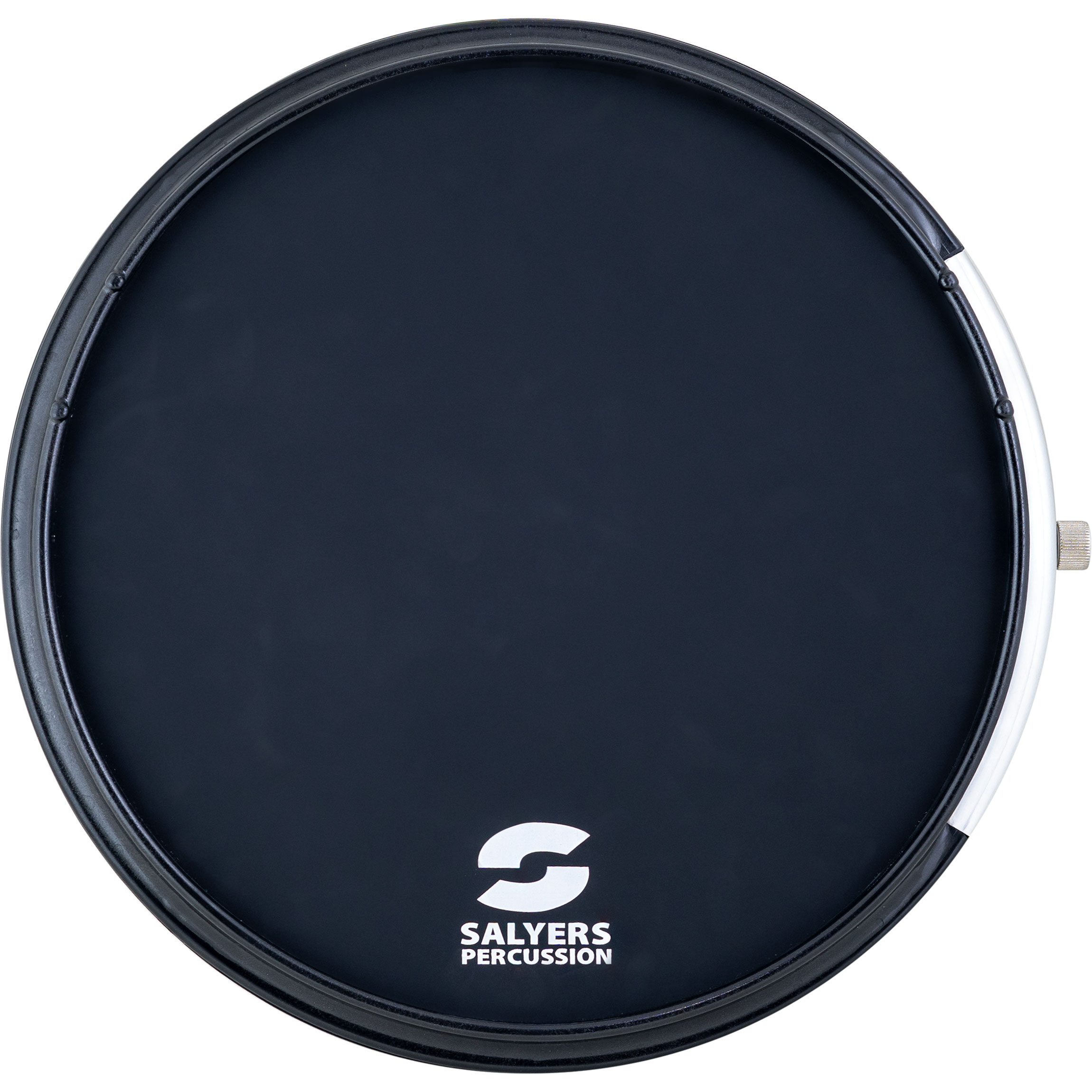 """Salyers Percussion 12"""" Stealth Pad Practice Pad with Rim and Snare Sound Insert"""