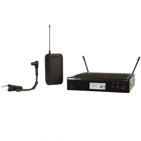 Shure BLX Wireless System with BETA98 Clip-On Microphone, BLX1 Bodypack Transmitter, and BLX4R Receiver
