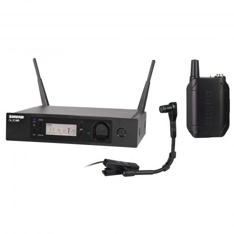 Shure GLX-D Advanced Rack Mountable Bodypack Wireless System with Beta 98H/C Instrument Microphone