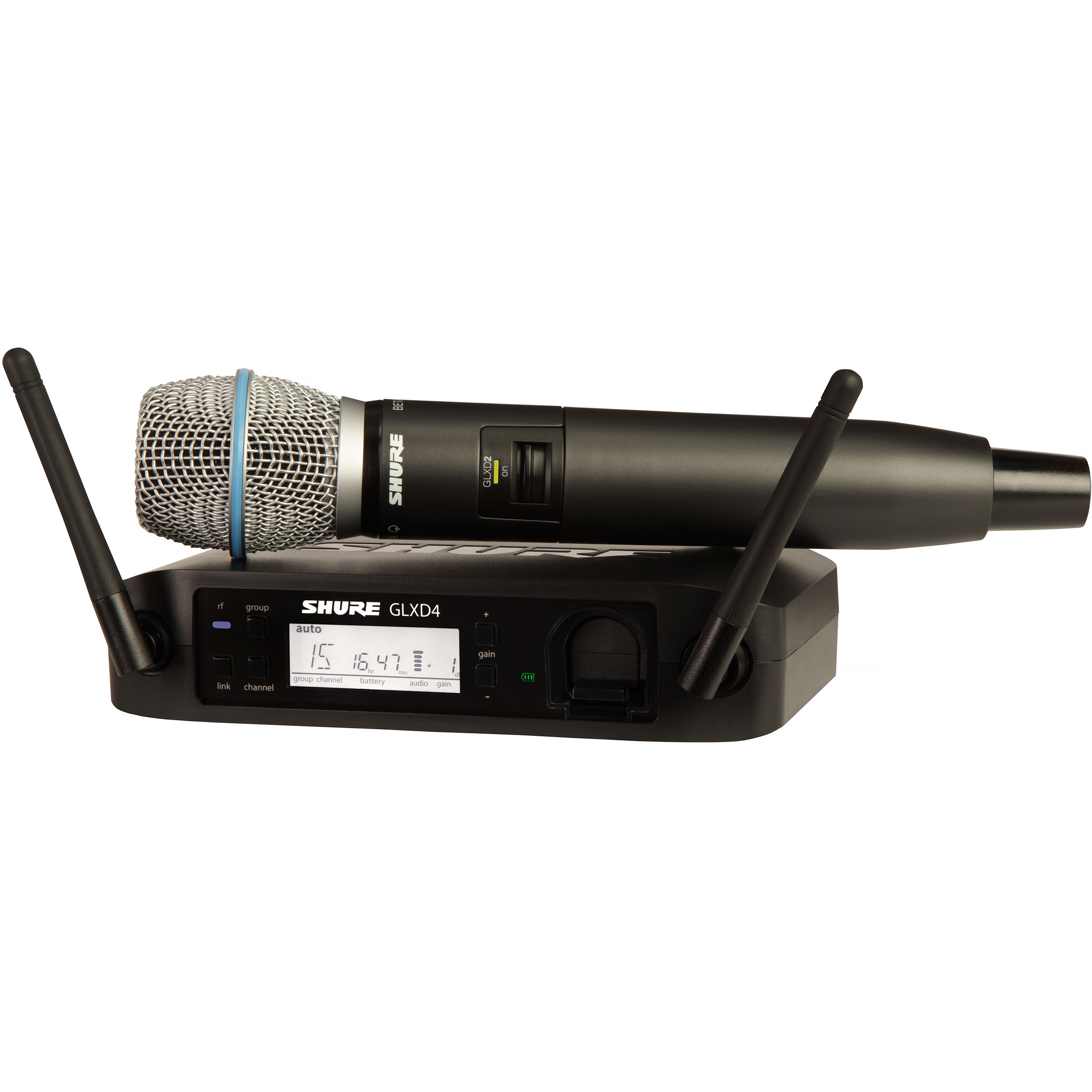 Shure GLX-D Advanced Handheld Wireless System with BETA87A Microphone Transmitter