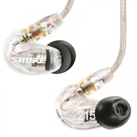 Shure SE215 Sound Isolating Earphones with Dynamic MicroDrivers (Clear)