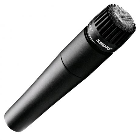 Shure SM57 Cardioid Dynamic Microphone with Clip and Zippered Pouch