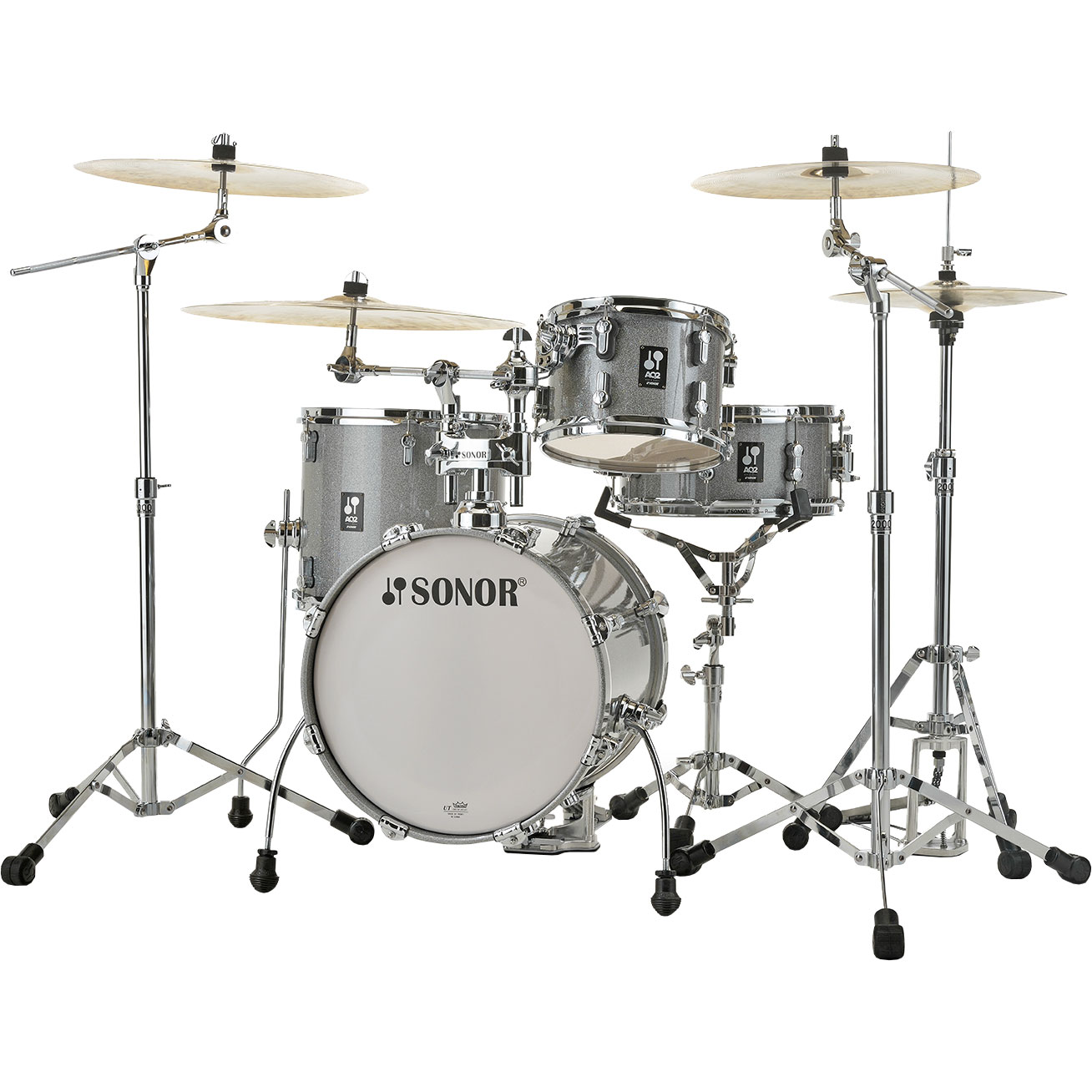 "Sonor AQ2 Bop 4-Piece Drum Set Shell Pack (18"" Bass, 12/14"" Toms, 14"" Snare)"