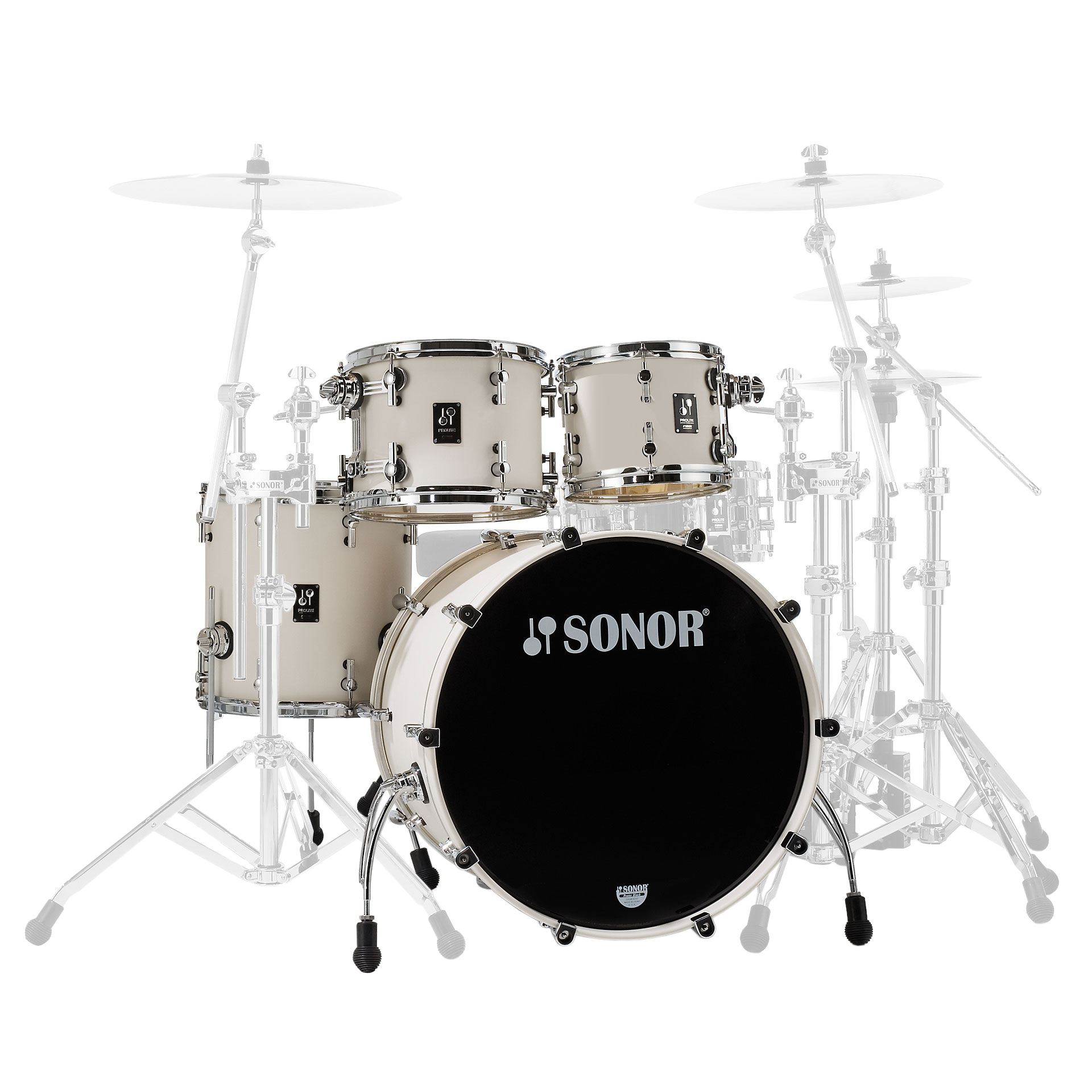 "Sonor ProLite Studio 4-Piece Drum Set Shell Pack (20"" Bass, 10/12/14"" Toms)"