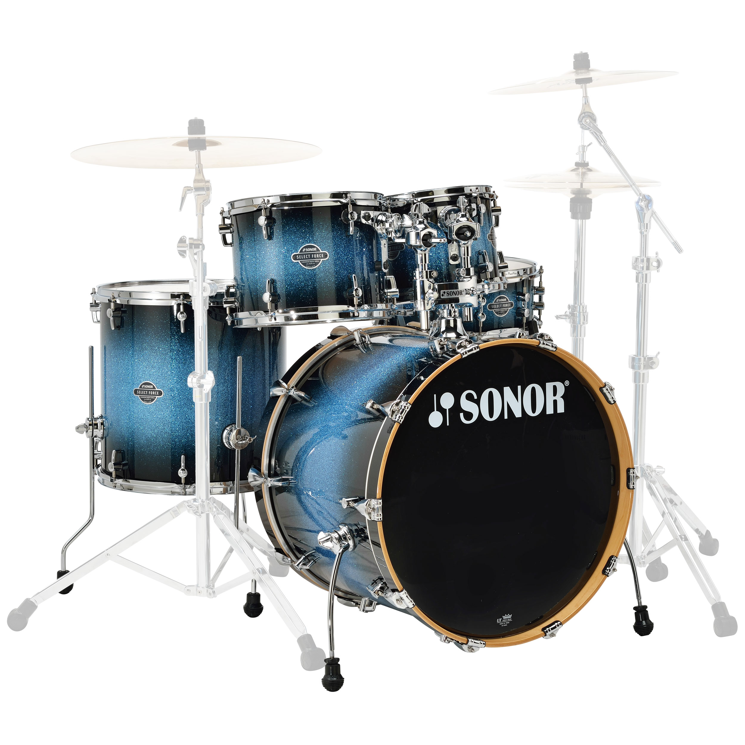 """Sonor Select Force Stage 3 5-Piece Drum Set Shell Pack (22"""" Bass, 10/12/16"""" Toms, 14"""" Snare)"""