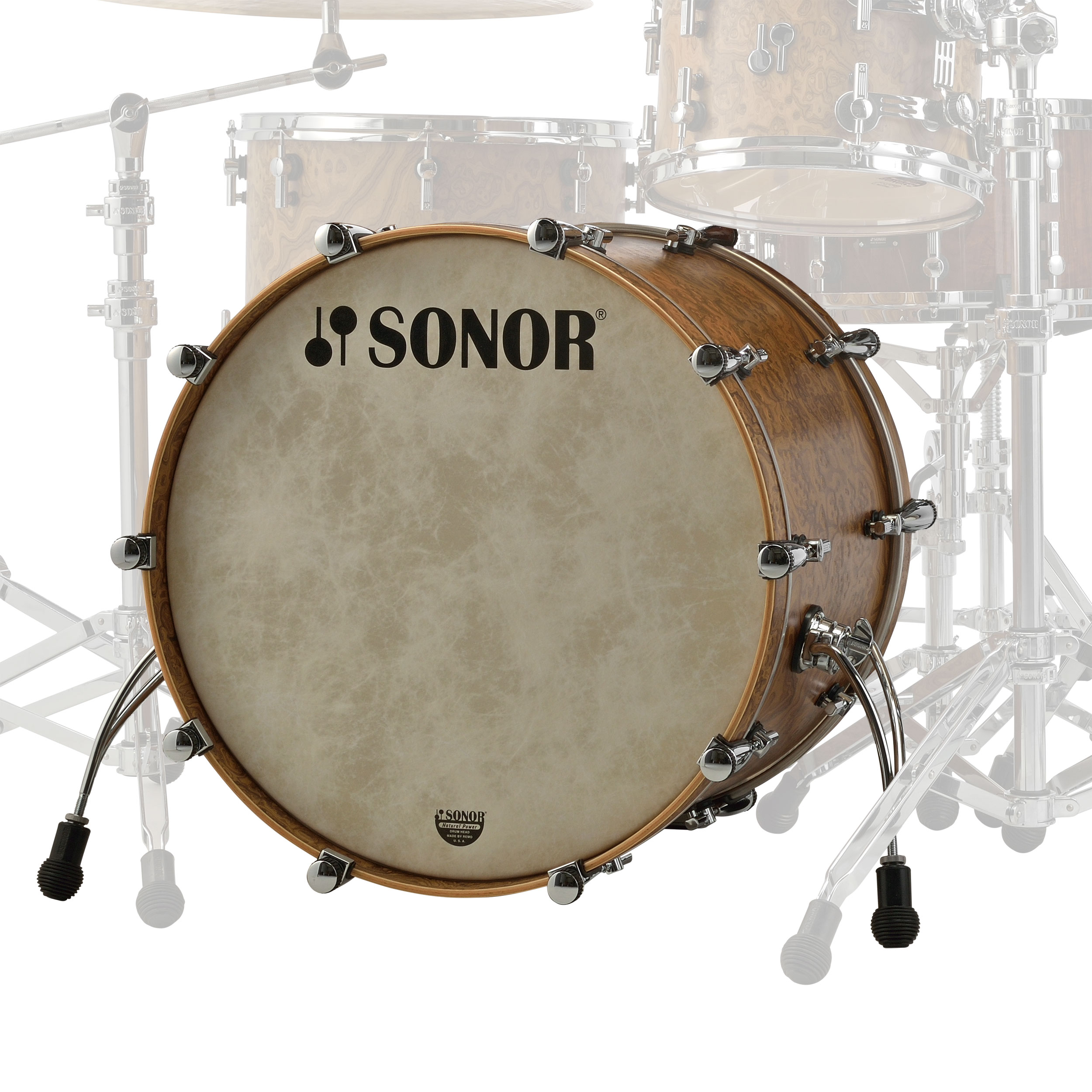 "Sonor 22"" x 17"" SQ2 Vintage Maple Bass Drum"