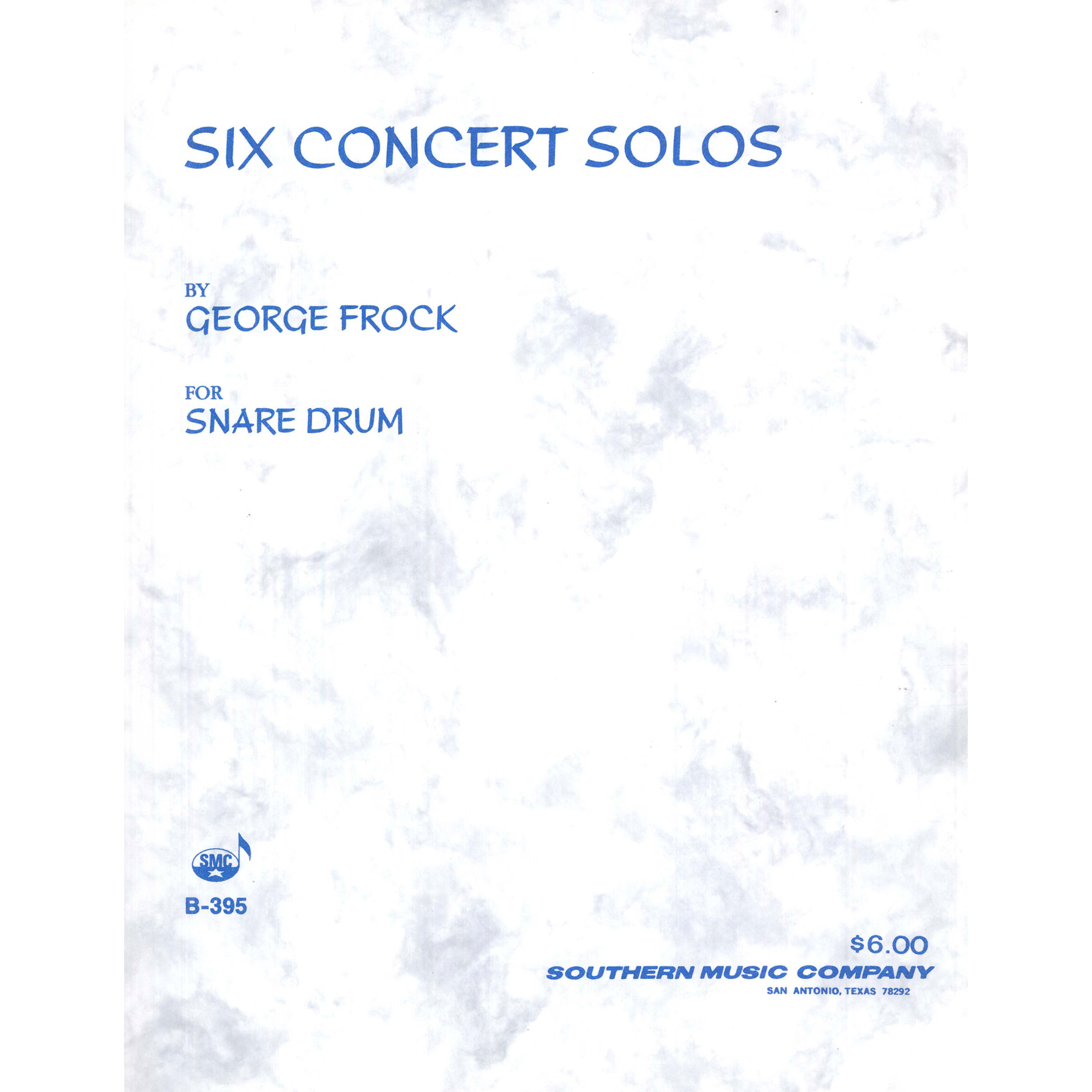 Six Concert Solos by George Frock