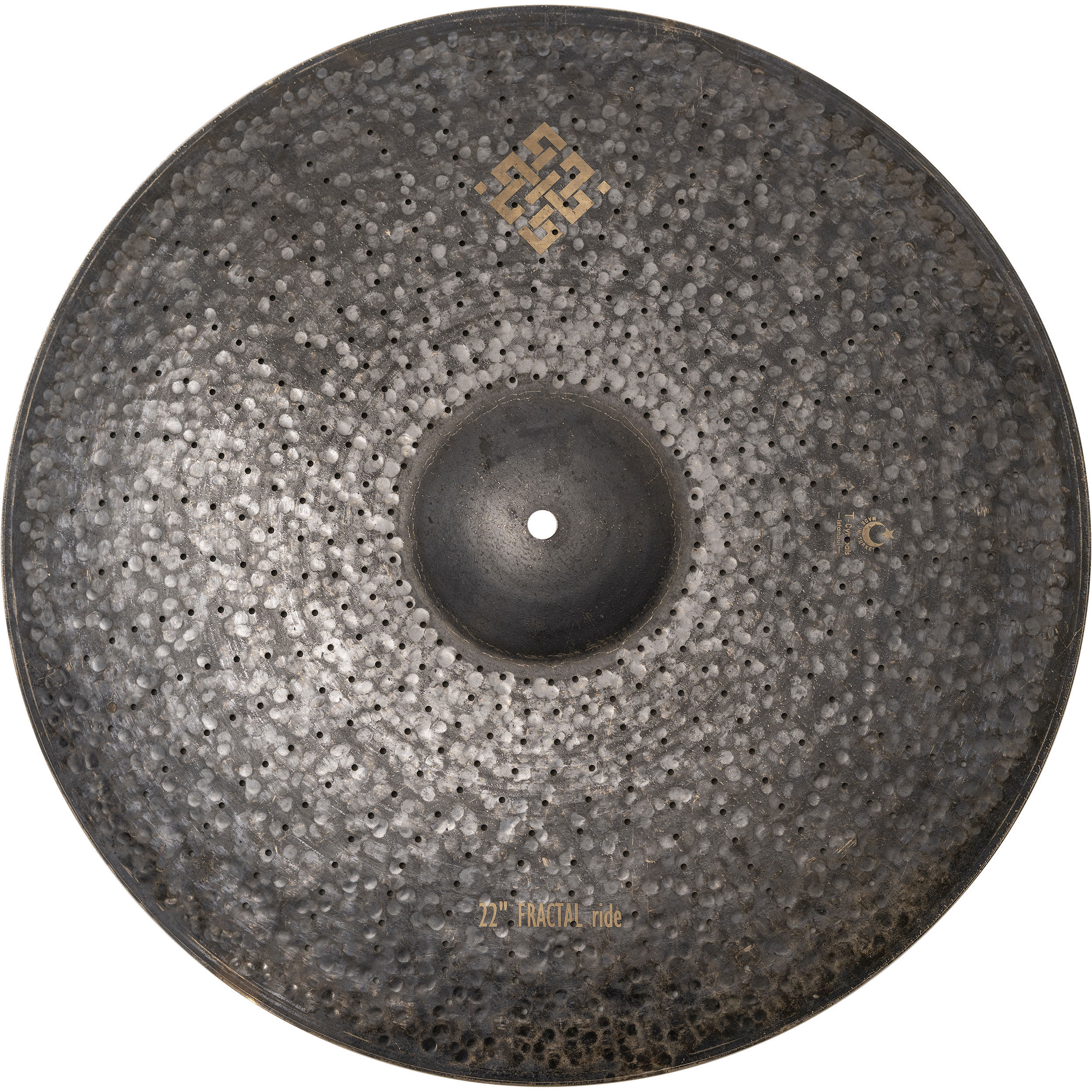 """T-Cymbals 22"""" Air Fractal Ride Cymbal"""