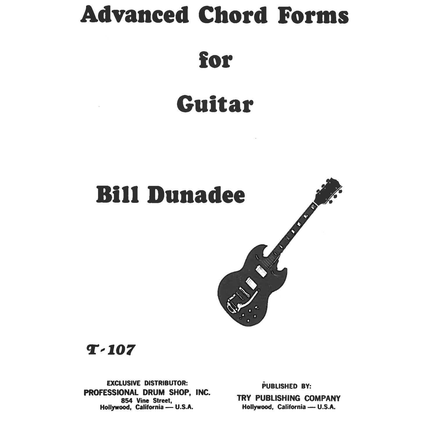 Advanced Chord Forms for Guitar by Bill Dunadee