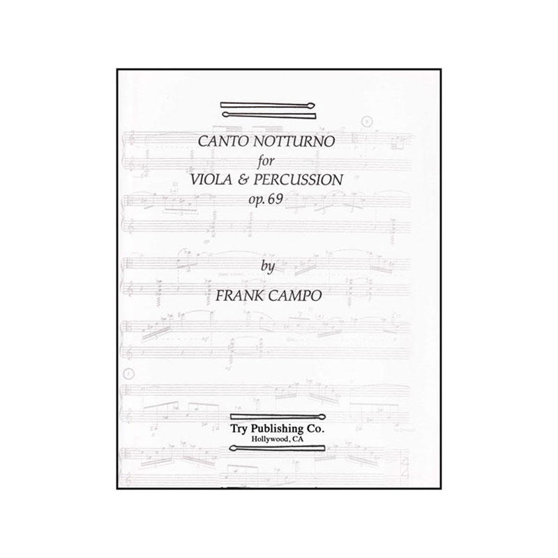 Canto Notturno for Viola and Percussion by Frank Campo