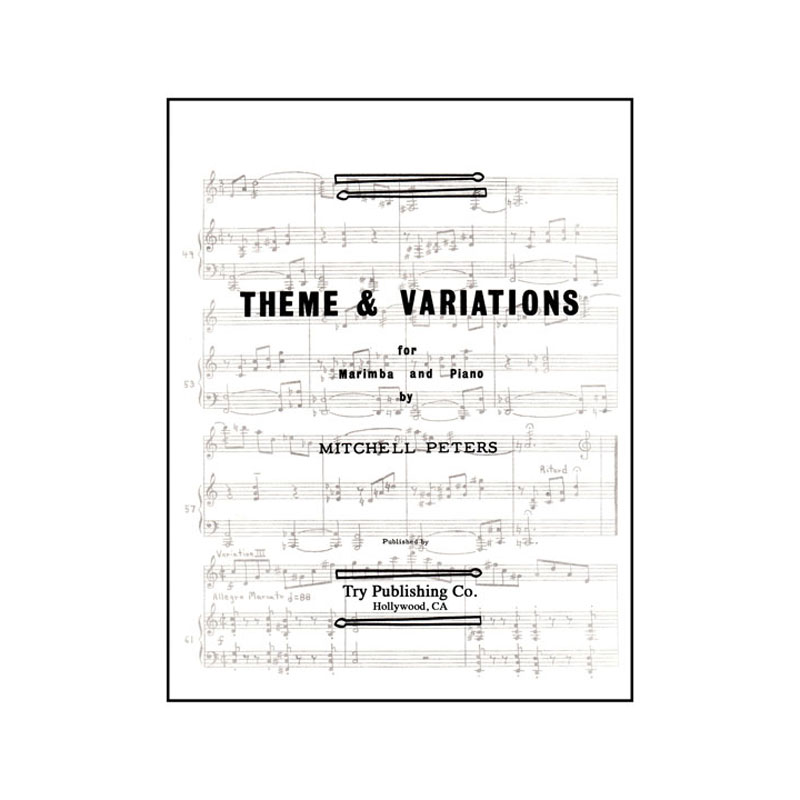 Theme and Variations for Marimba and Piano by Mitchell Peters