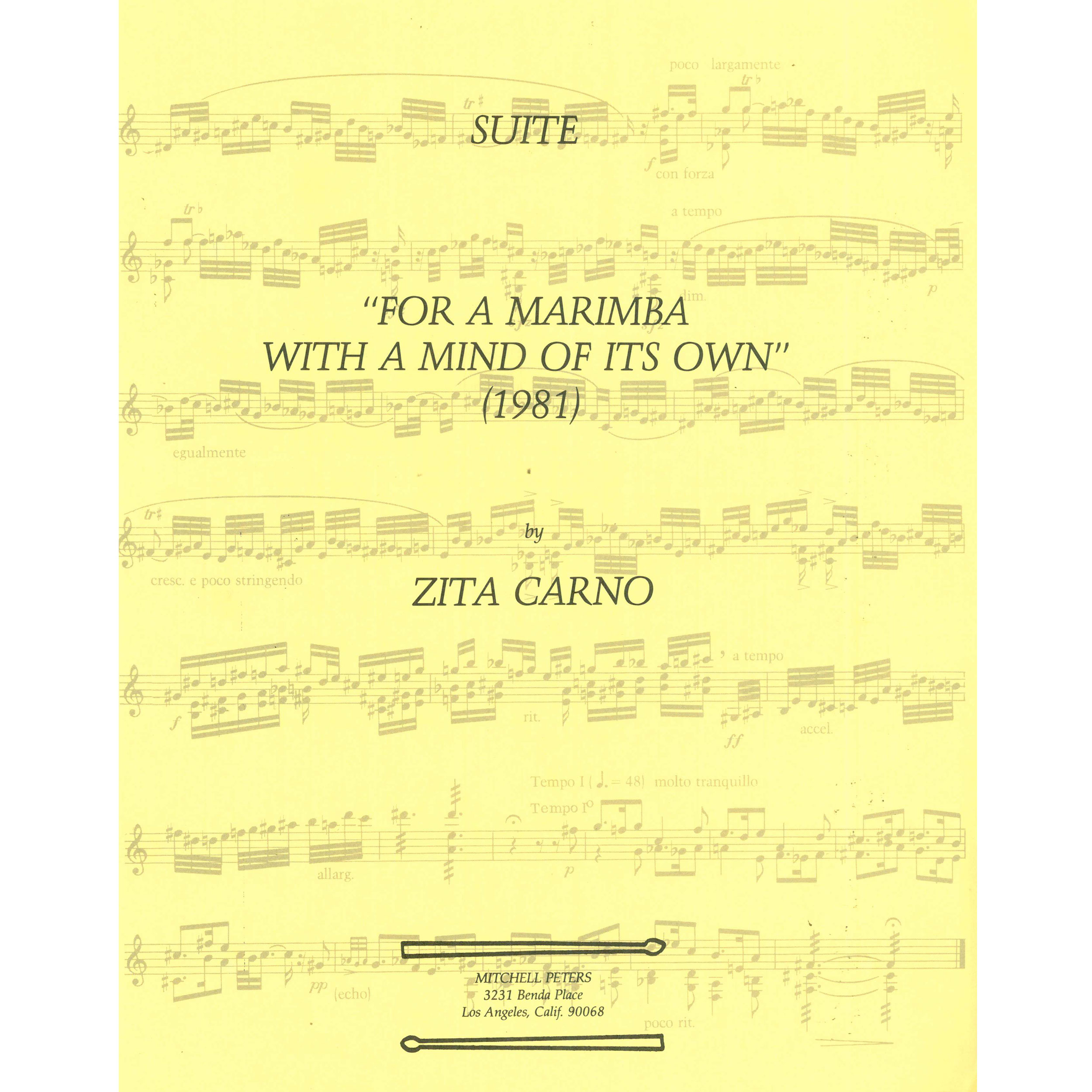 For a Marimba with a Mind of its Own by Zito Carno