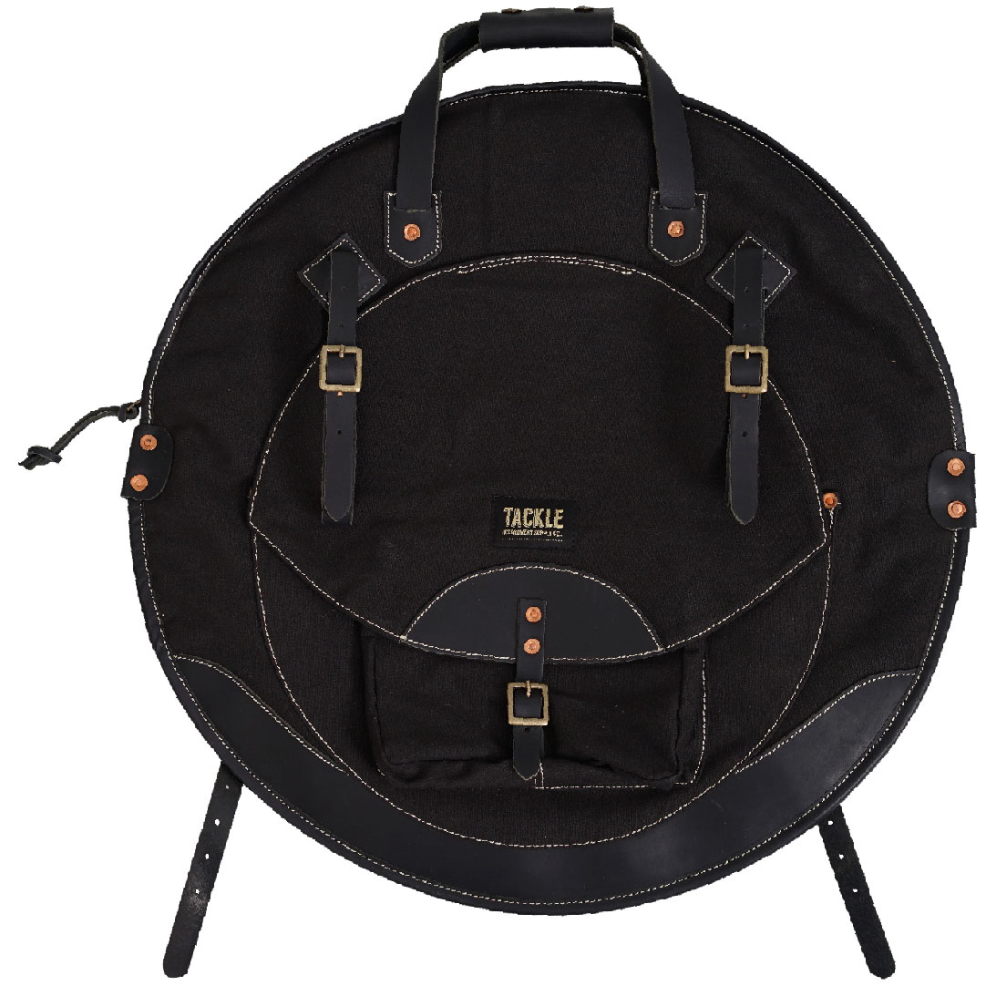 """Tackle Instrument Supply Co. 22"""" Black Canvas/Black Leather Cymbal Bag"""