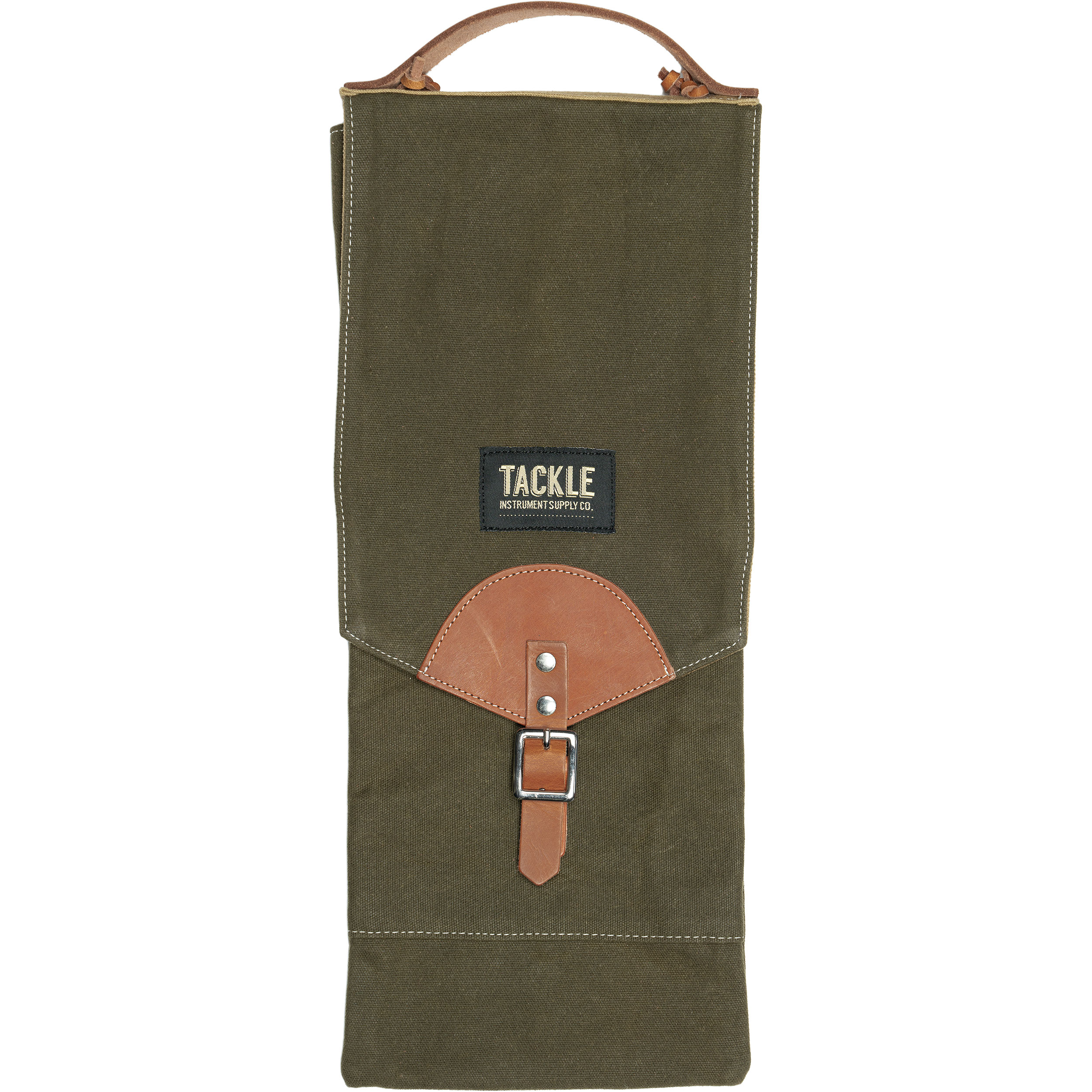 Tackle Instrument Supply Co. Forest Green Waxed Canvas Compact Stick Bag