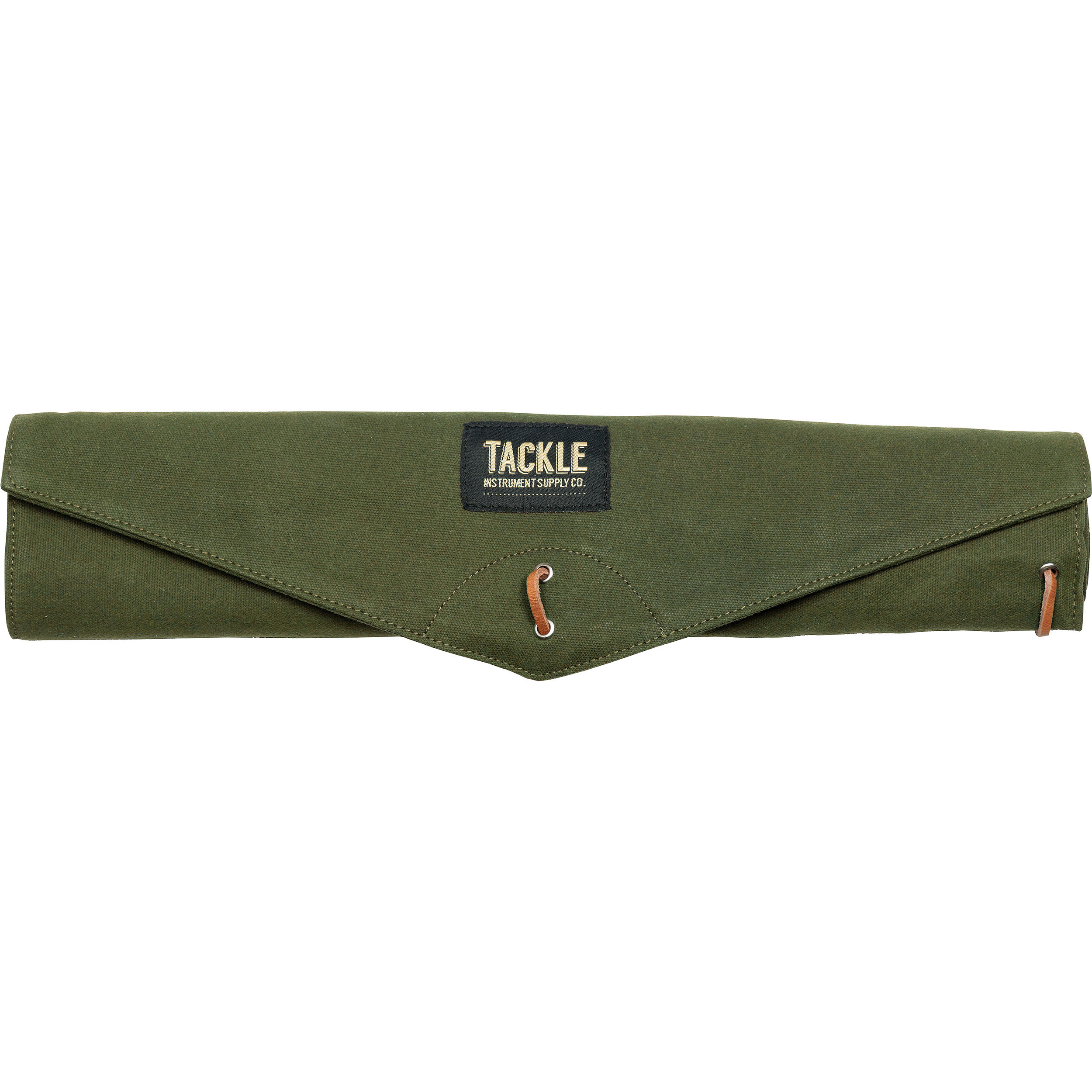 Tackle Instrument Supply Co. Forest Green Waxed Canvas Roll Up Stick Bag
