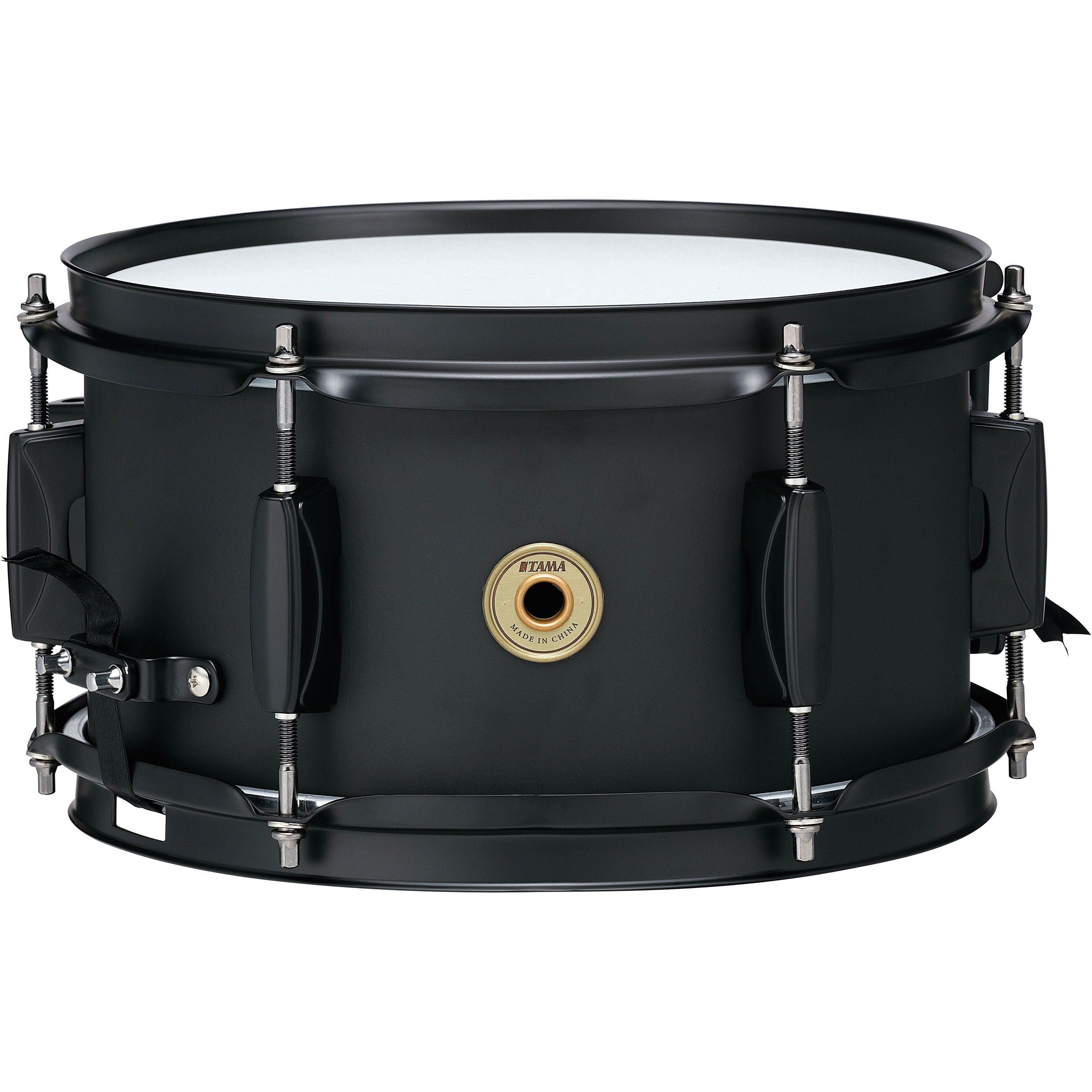 "Tama 5.5"" x 10"" Metalworks Steel Snare Drum in Matte Black with Matching Hardware"