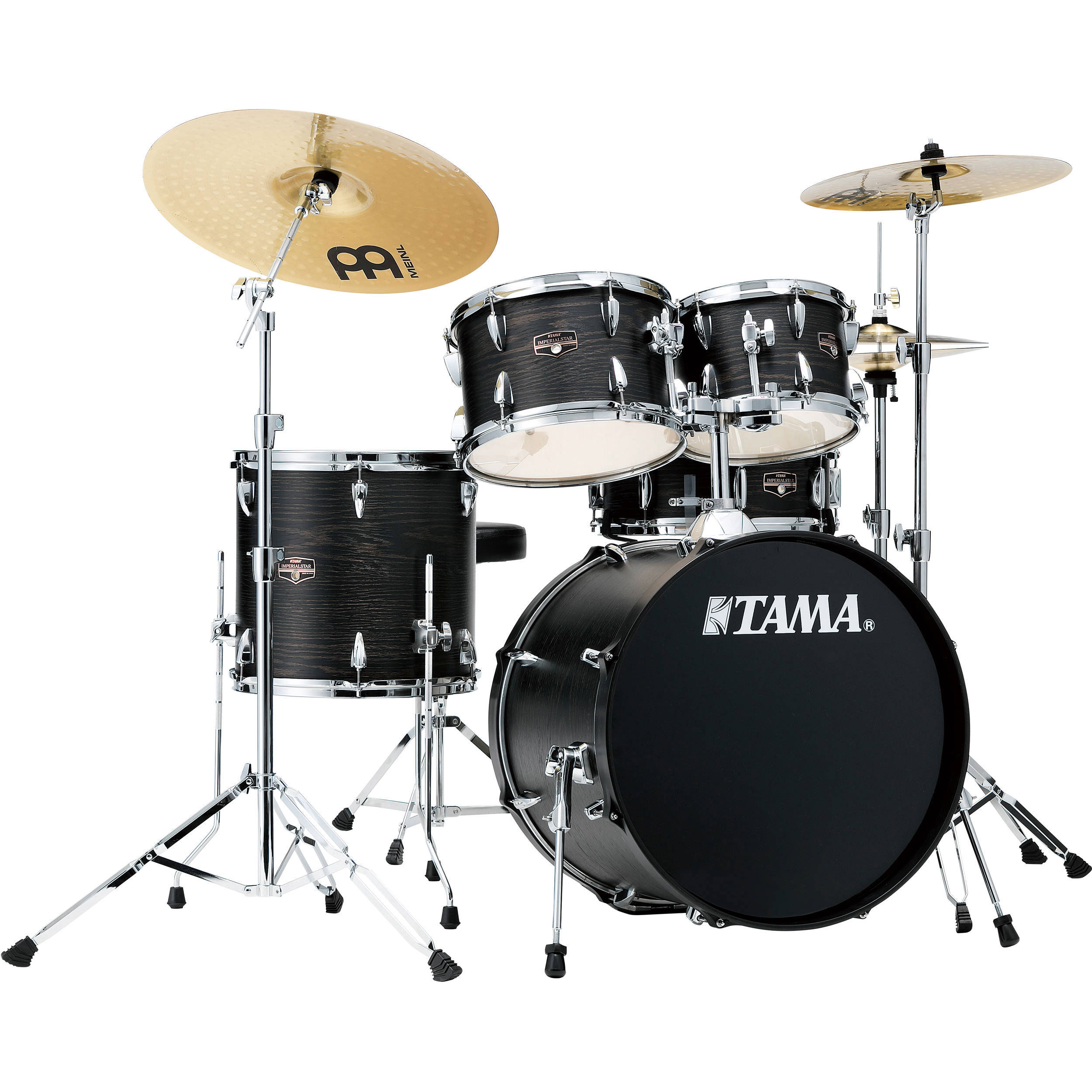 "Tama Imperialstar 5-Piece Drum Set with Hardware and Cymbals (20"" Bass, 10/12/14"" Toms, 14"" Snare)"