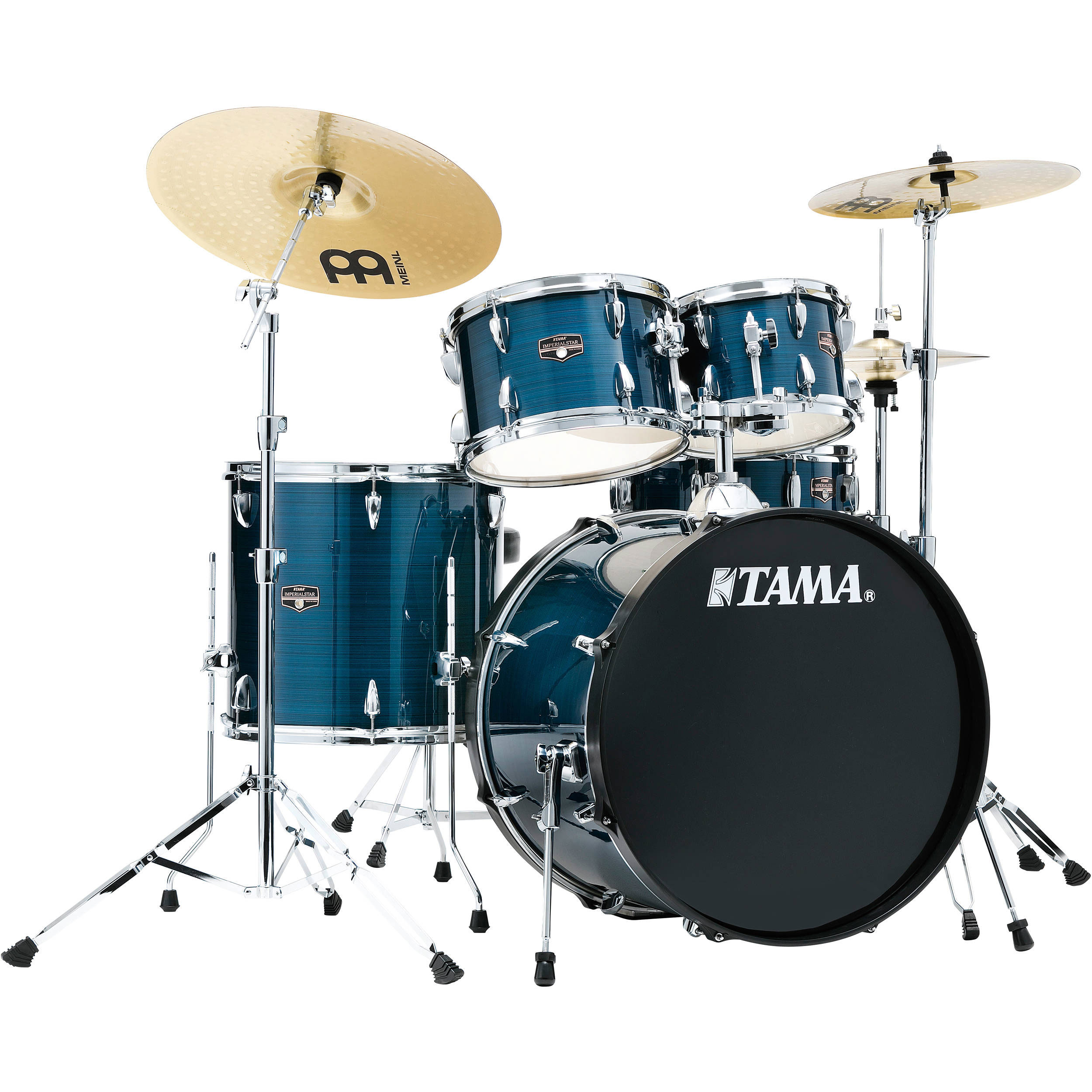"Tama Imperialstar 5-Piece Drum Set with Hardware and Cymbals (22"" Bass, 10/12/16"" Toms, 14"" Snare)"