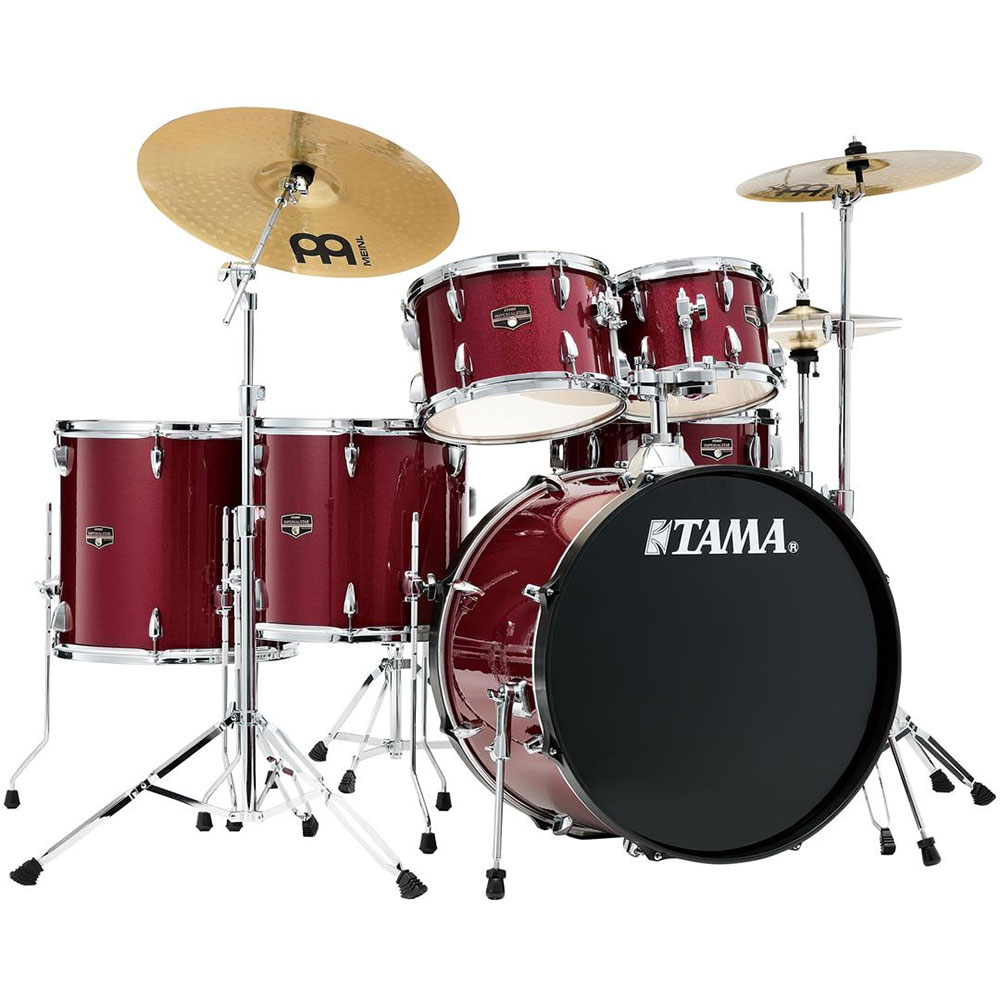 "Tama Imperialstar 5-Piece Drum Set with Hardware & Cymbals (22"" Bass, 10/12/14/16"" Toms, 14"" Snare)"