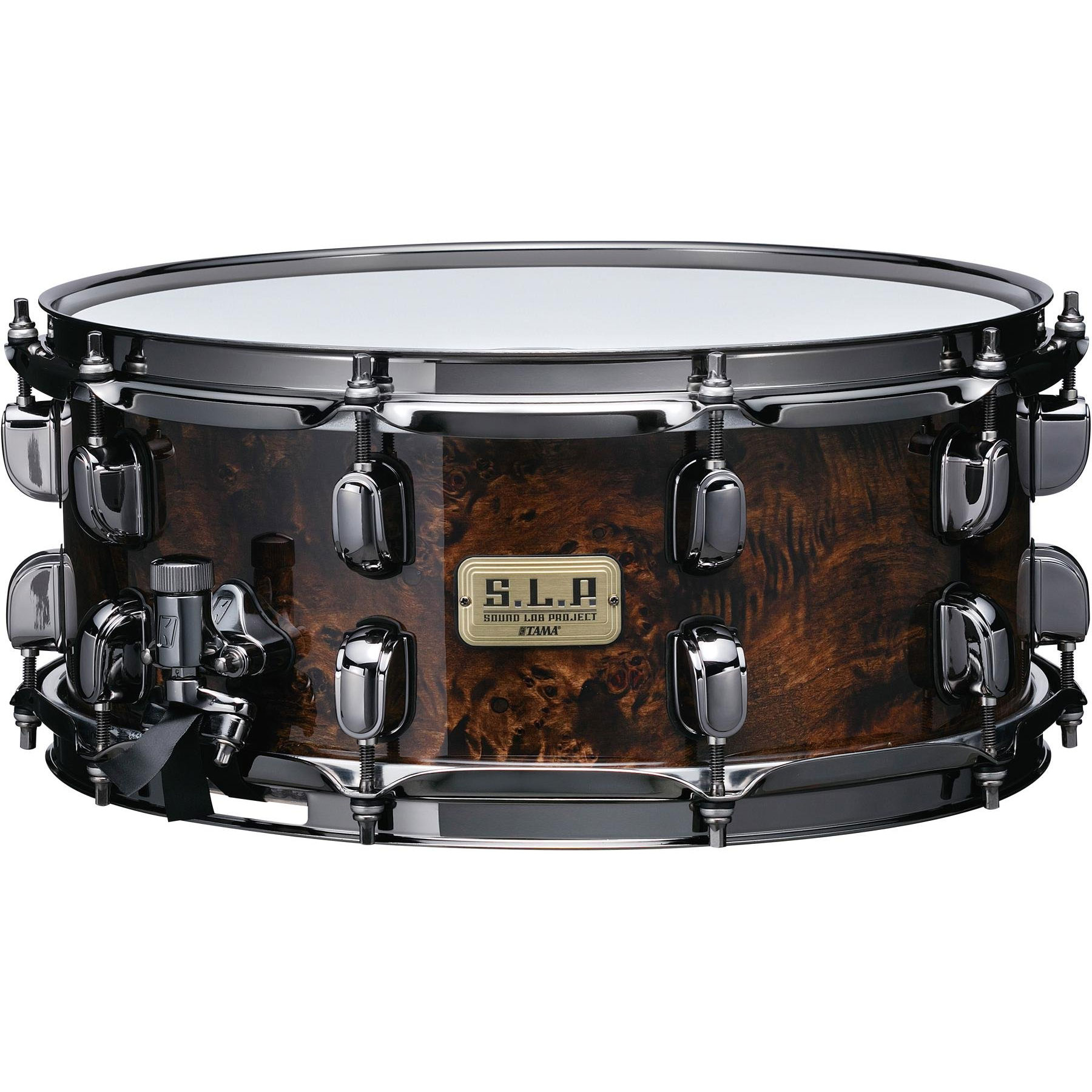 "Tama 6"" x 14"" S.L.P. G-Maple Snare Drum in Kona Mappa Burl"