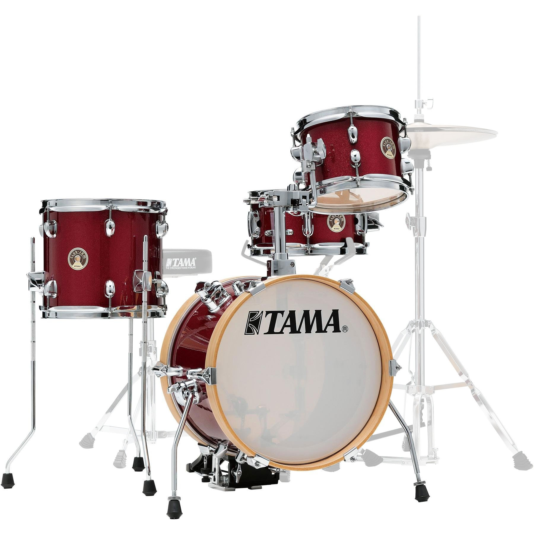 "Tama Club-Jam Flyer 4-Piece Drum Set Shell Pack (14"" Bass, 8/10"" Toms, 10"" Snare) in Candy Apple Mist"