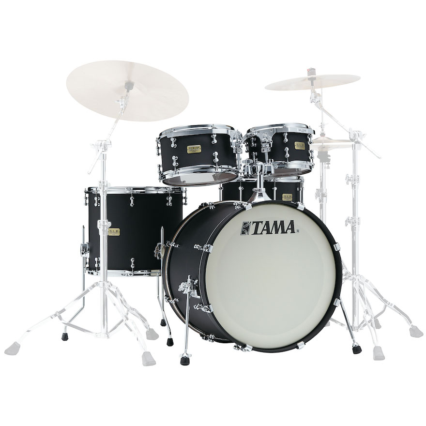 "Tama S.L.P. Dynamic Kapur 4-Piece Drum Set Shell Pack (22"" Bass, 10/12/16"" Toms) in Flat Black"