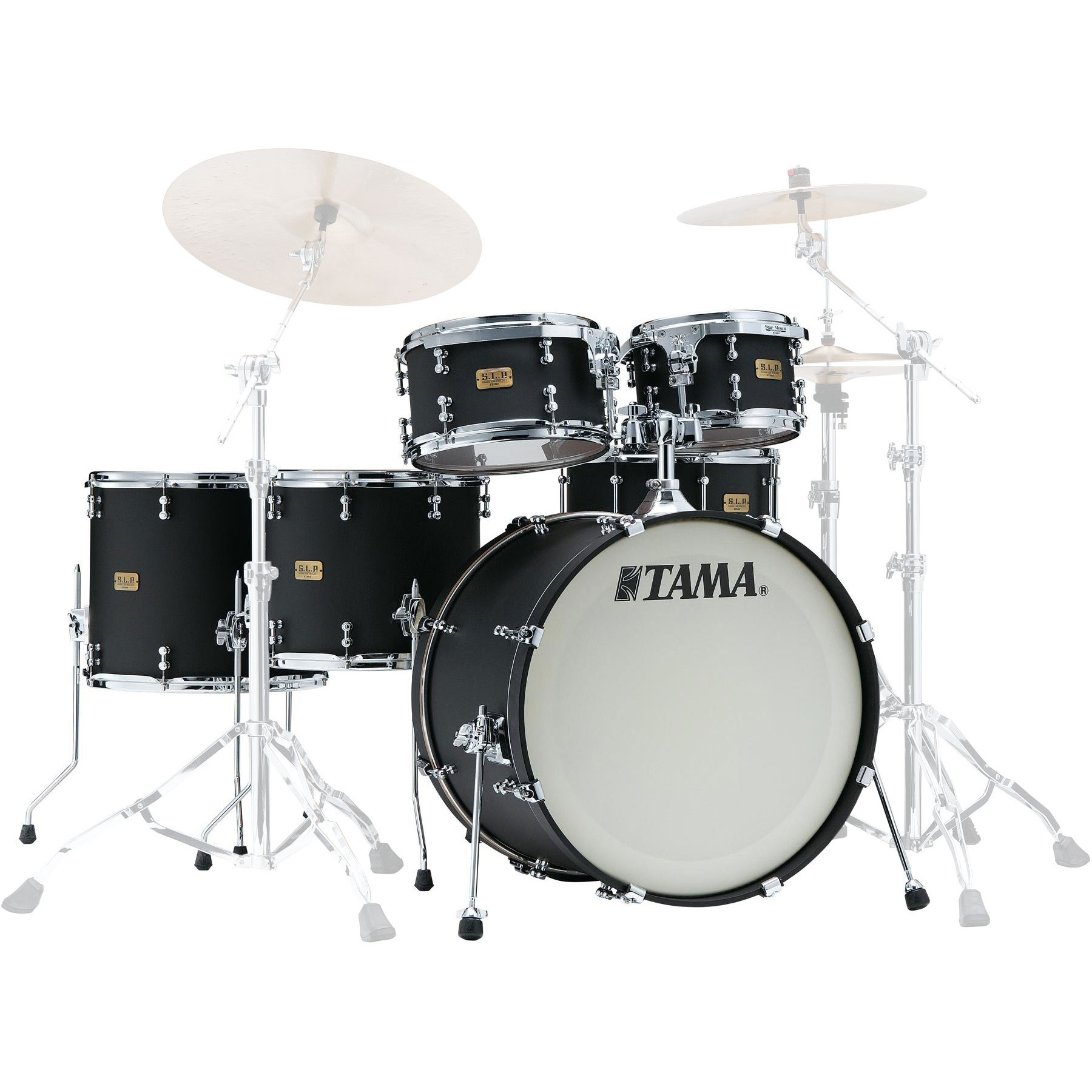 "Tama S.L.P. Dynamic Kapur 5-Piece Drum Set Shell Pack (22"" Bass, 10/12/14/16"" Toms) in Flat Black"