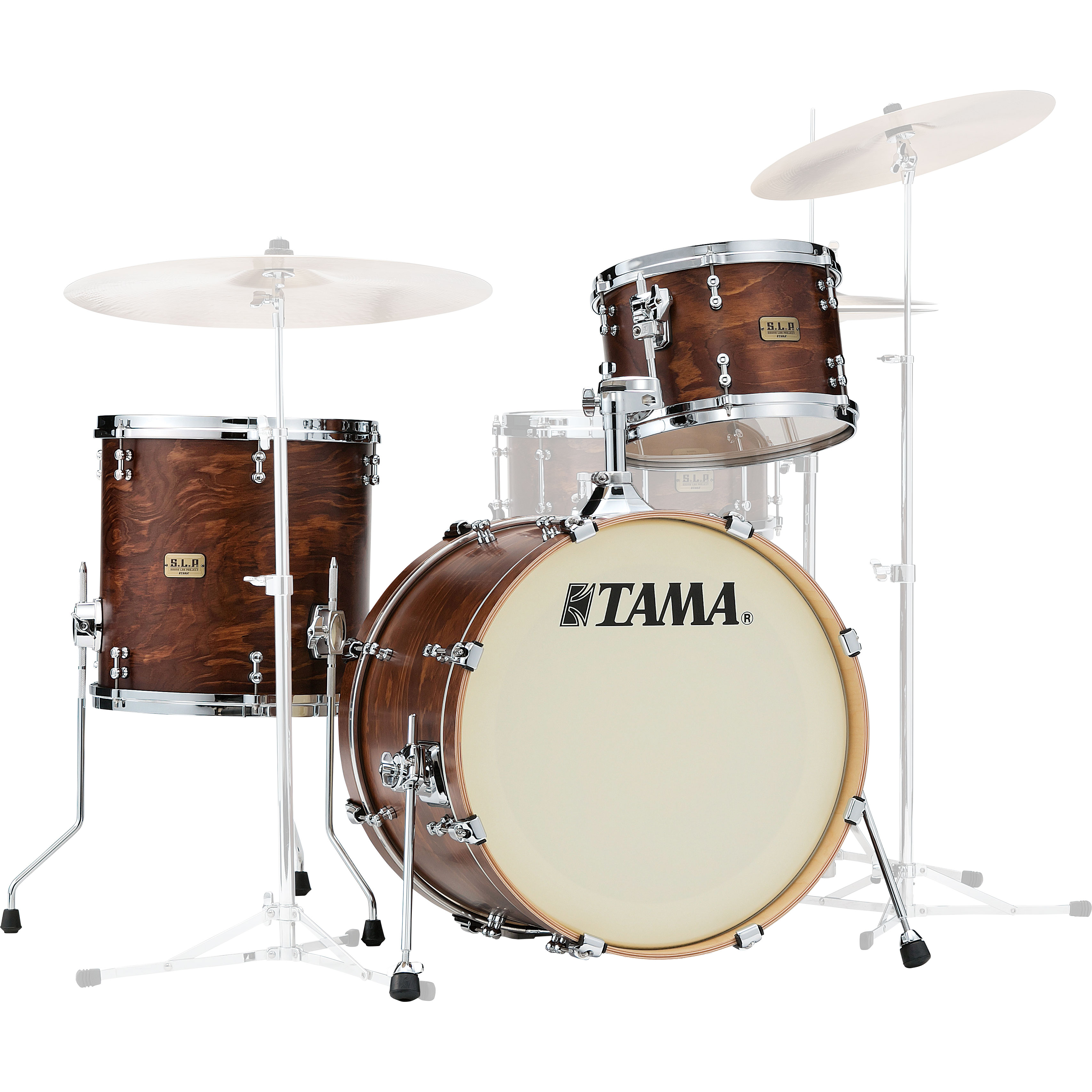 "Tama S.L.P. Fat Spruce 3-Piece Drum Set Shell Pack (20"" Bass, 12/14"" Toms) in Satin Wild Spruce"