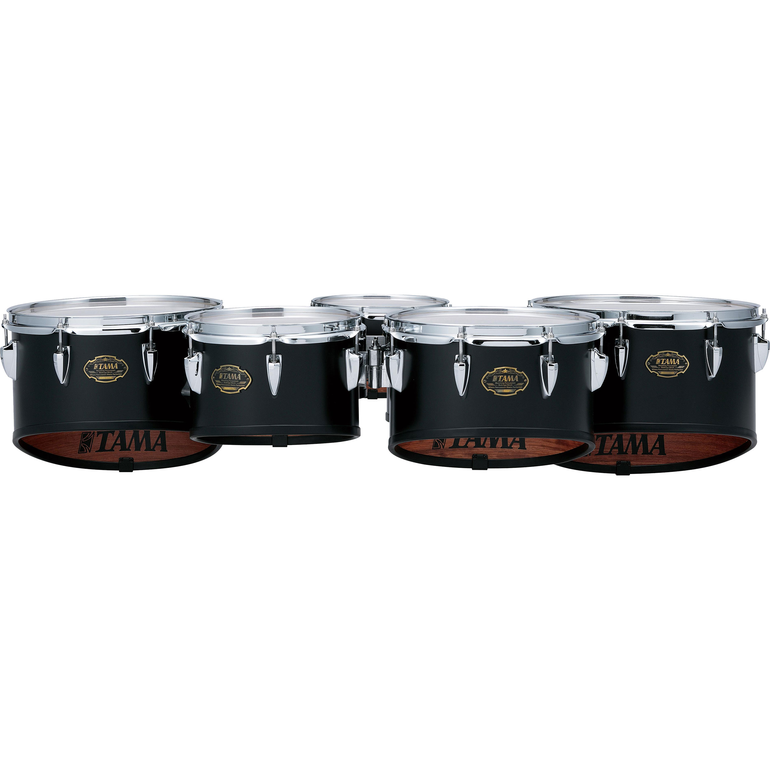 "Tama 6-10-12-13-14"" Maple Marching Tenors in Satin Black"