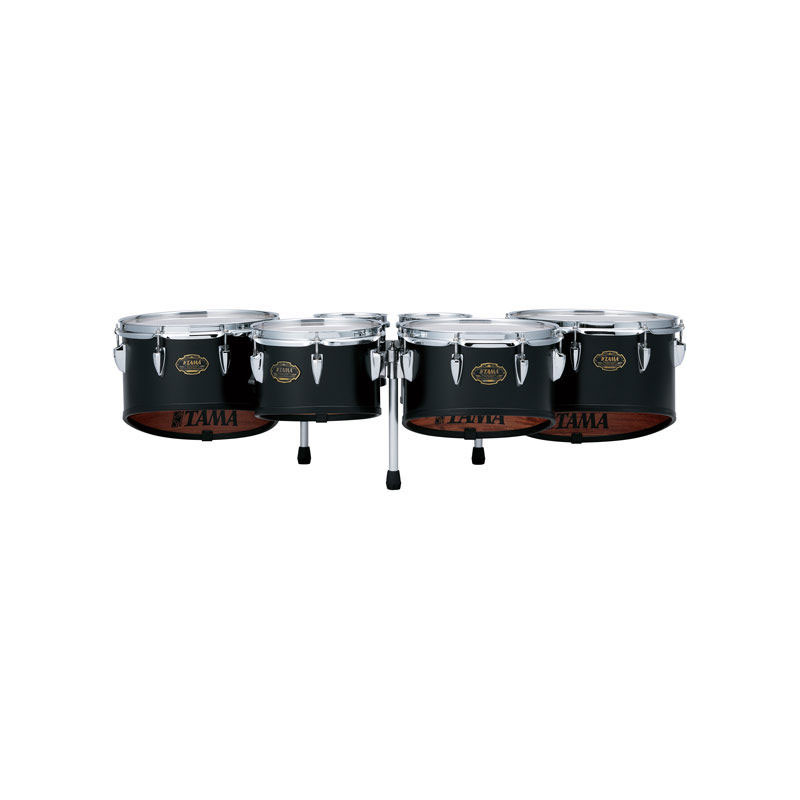 "Tama 6-8-10-12-13"" Maple Marching Tenors in Satin Black"