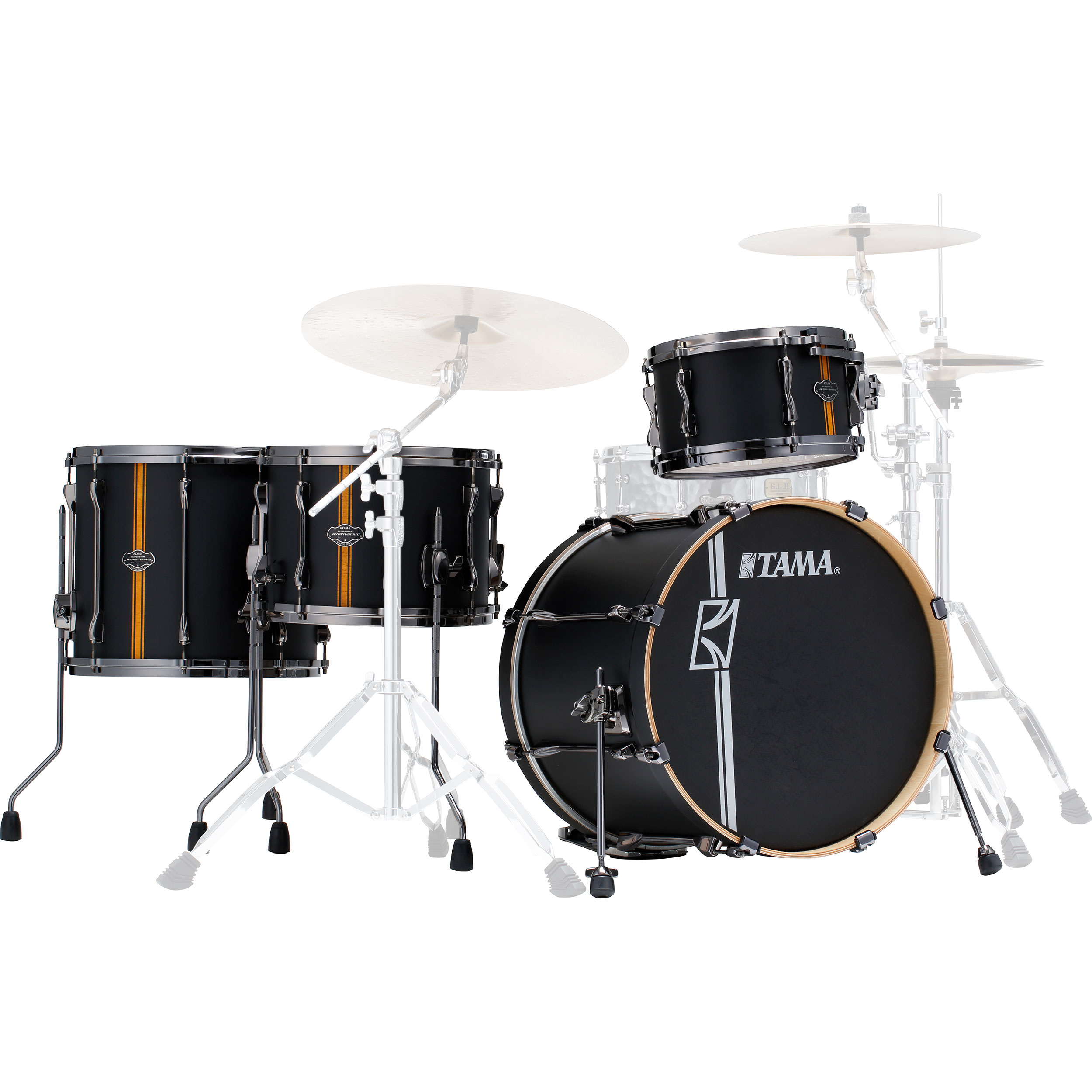 "Tama Superstar Hyper-Drive Duo 4-Piece Drum Set Shell Pack (20"" Bass, 12/16"" Toms, 14"" Duo Snare)"