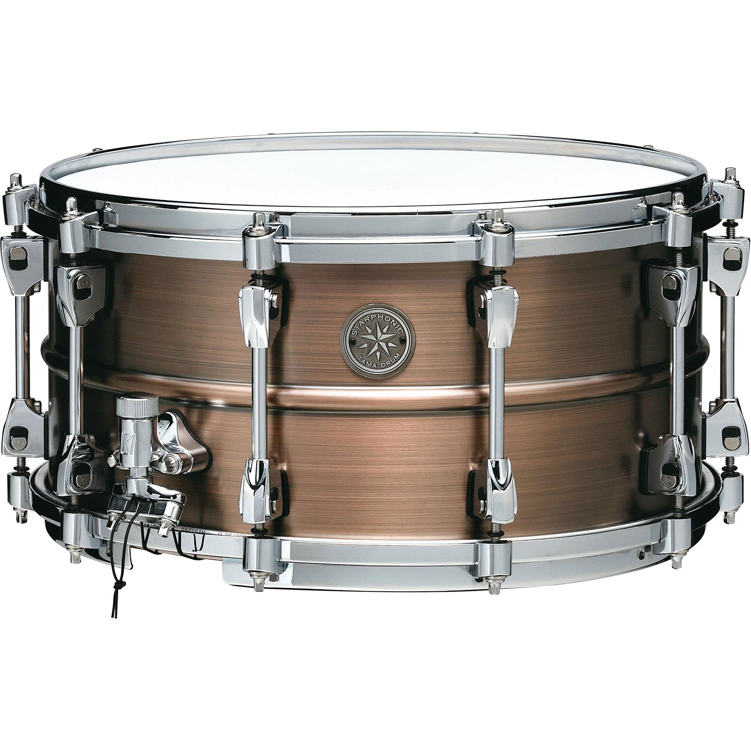 "Tama 7"" x 14"" Starphonic 1.2mm Copper Snare Drum in Satin Hairline Finish"