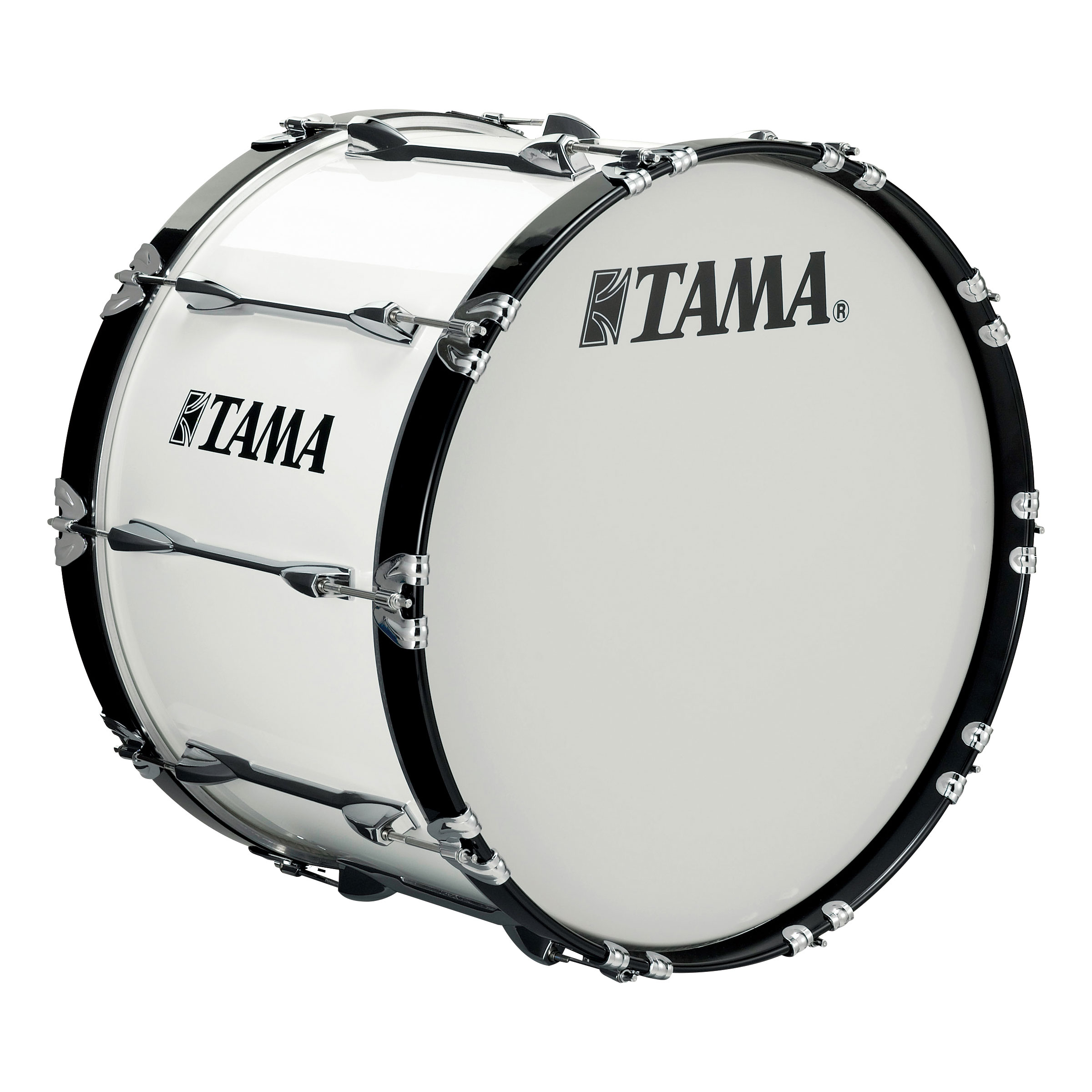 "Tama 22"" StarLight Marching Bass Drum in Sugar White Wrap"