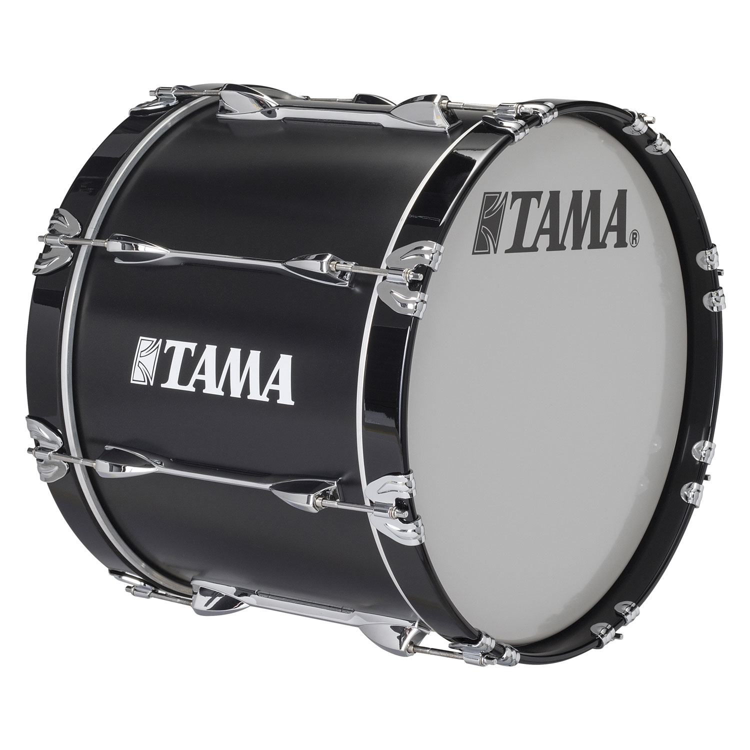 "Tama 22"" StarLight Marching Bass Drum in Satin Black Lacquer"