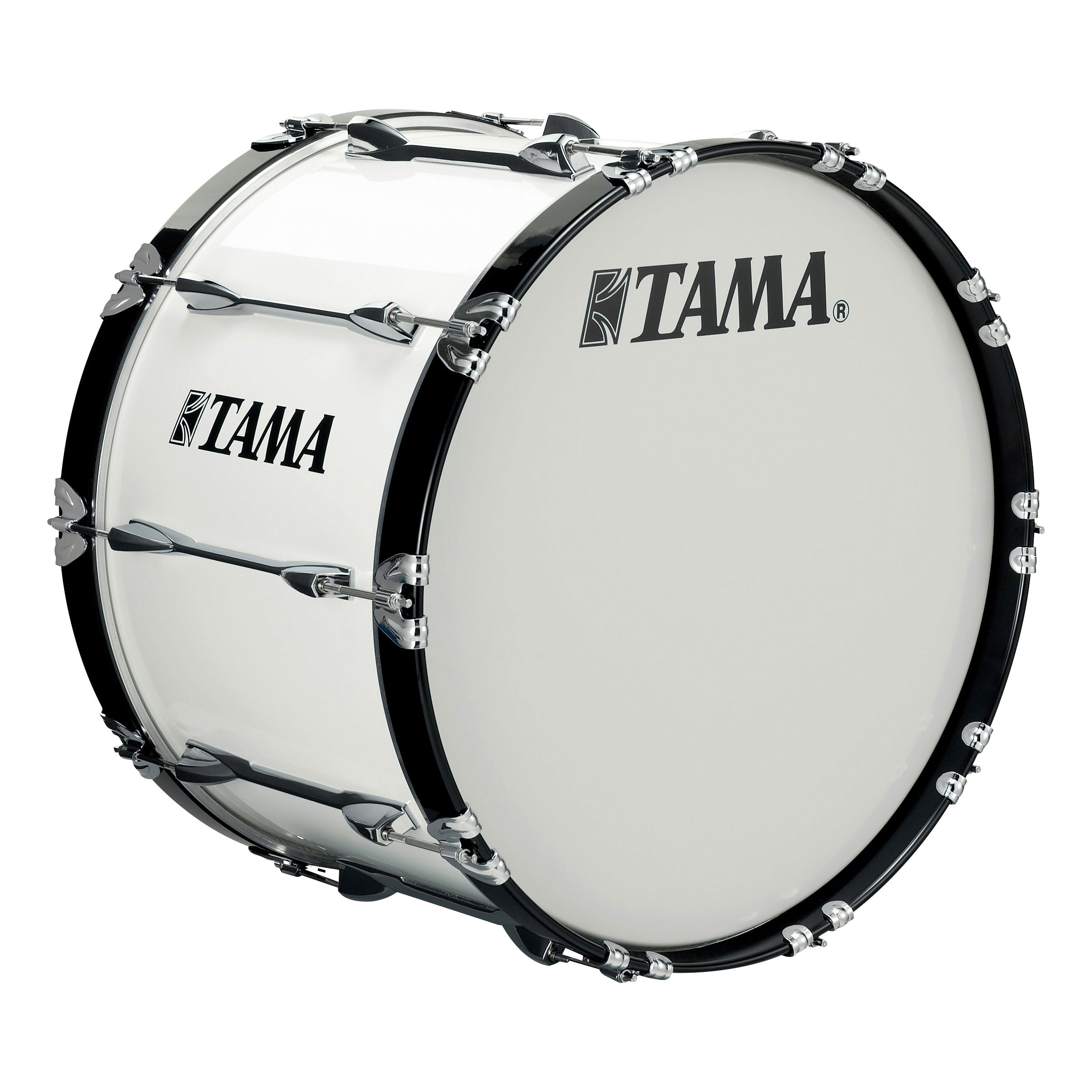 "Tama 26"" StarLight Marching Bass Drum in Sugar White Wrap"