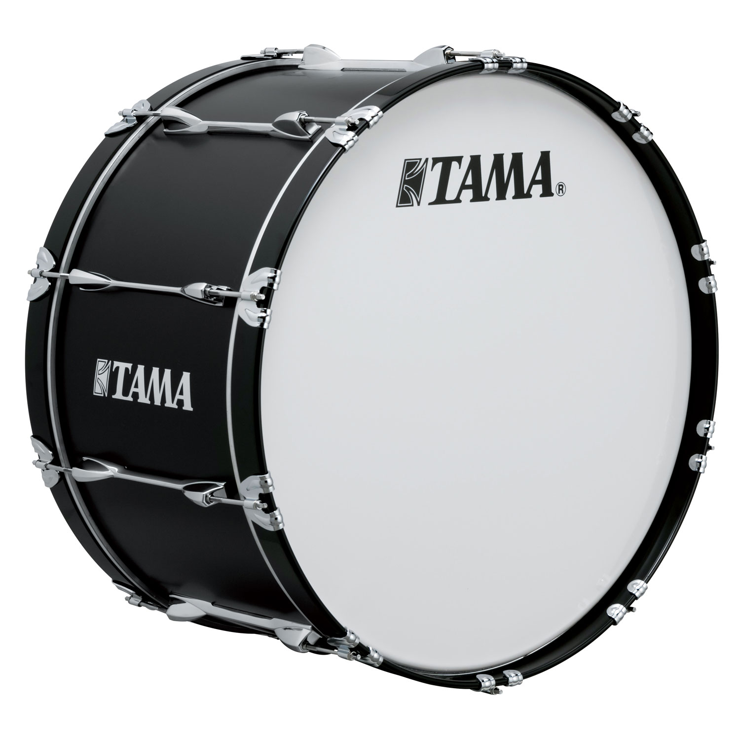 "Tama 26"" StarLight Marching Bass Drum in Satin Black Lacquer"