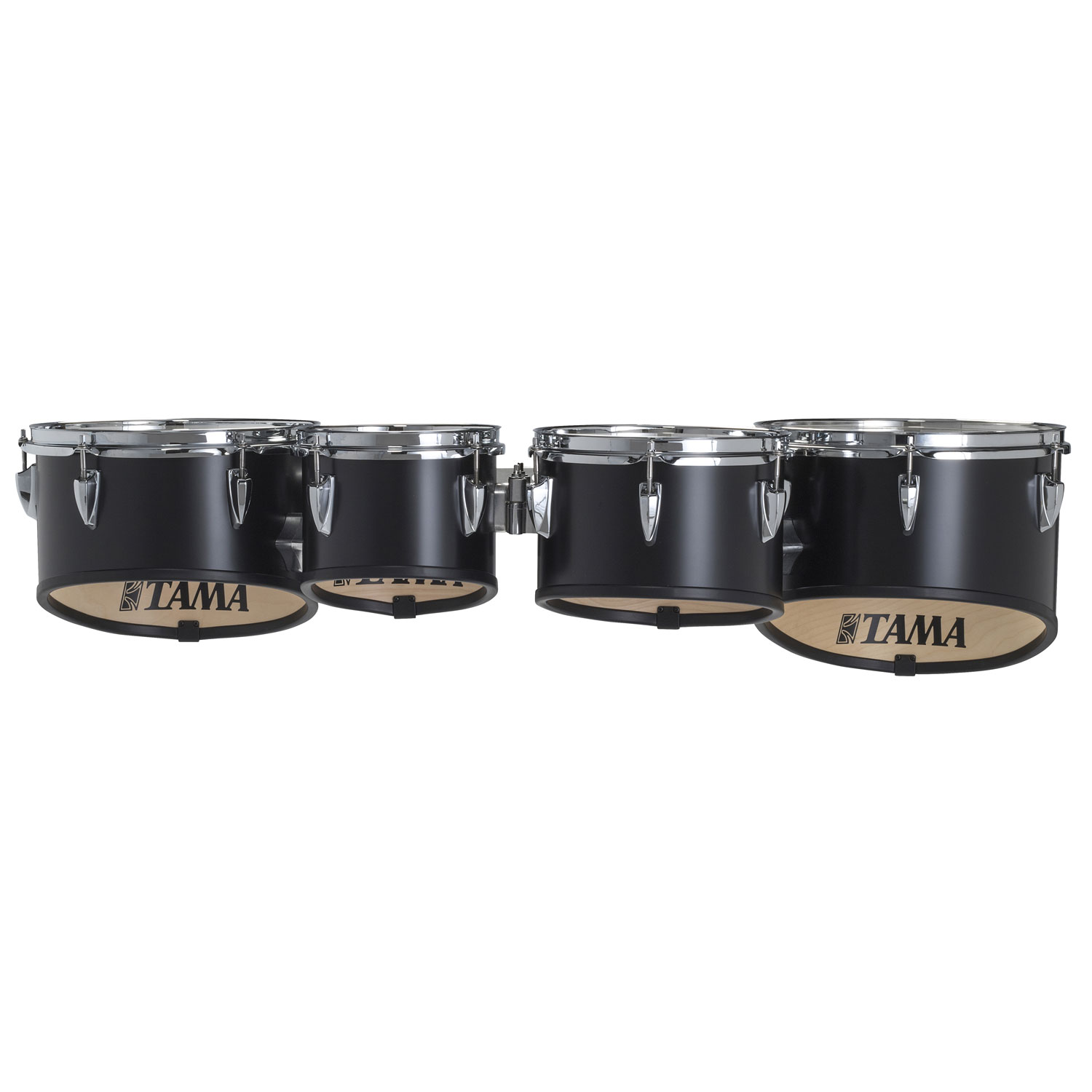 "Tama 8-10-12-13"" StarLight Marching Tenors in Satin Black Lacquer"