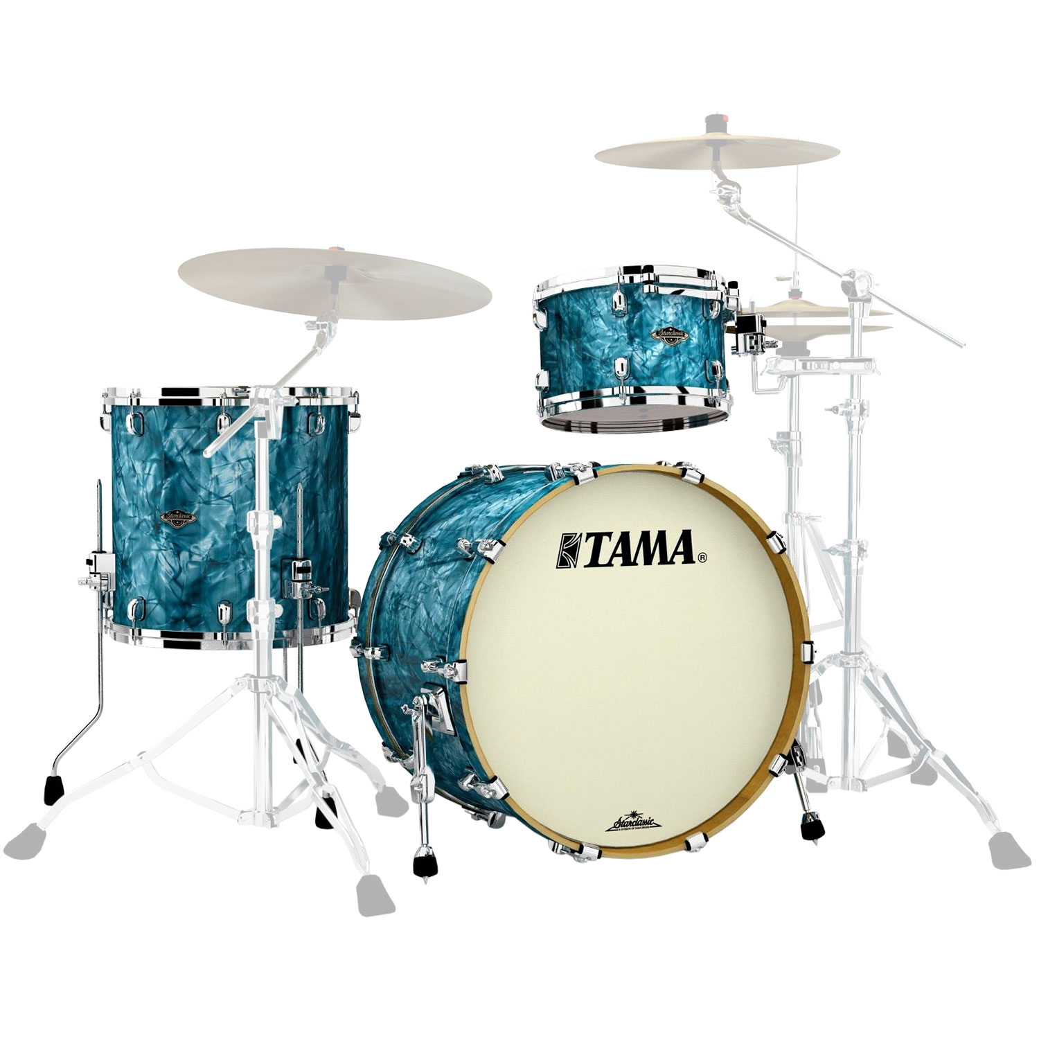 "Tama Starclassic Walnut/Birch 3-Piece Drum Set Shell Pack (22"" Bass, 12/16"" Toms)"