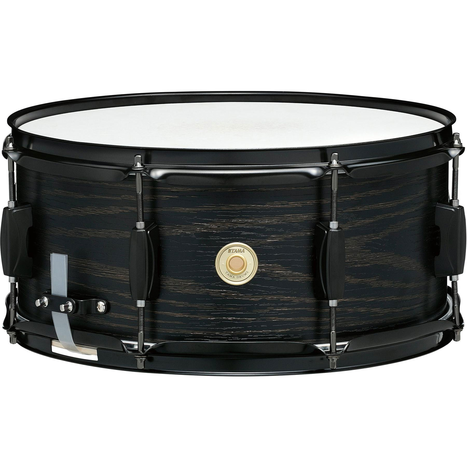 "Tama 6.5"" x 14"" Woodworks Poplar Snare Drum in Black Oak Wrap"