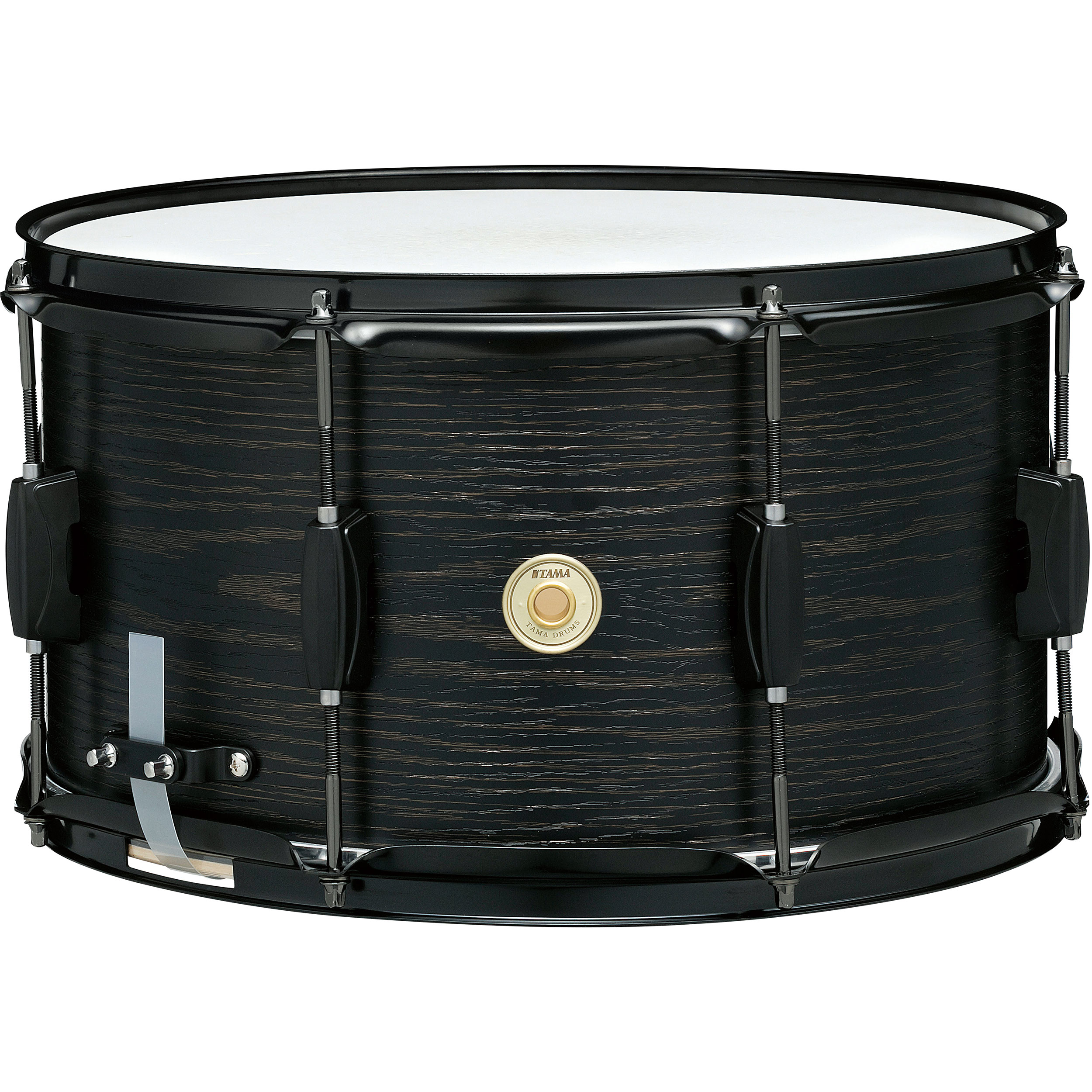 "Tama 8"" x 14"" Woodworks Poplar Snare Drum in Black Oak Wrap"