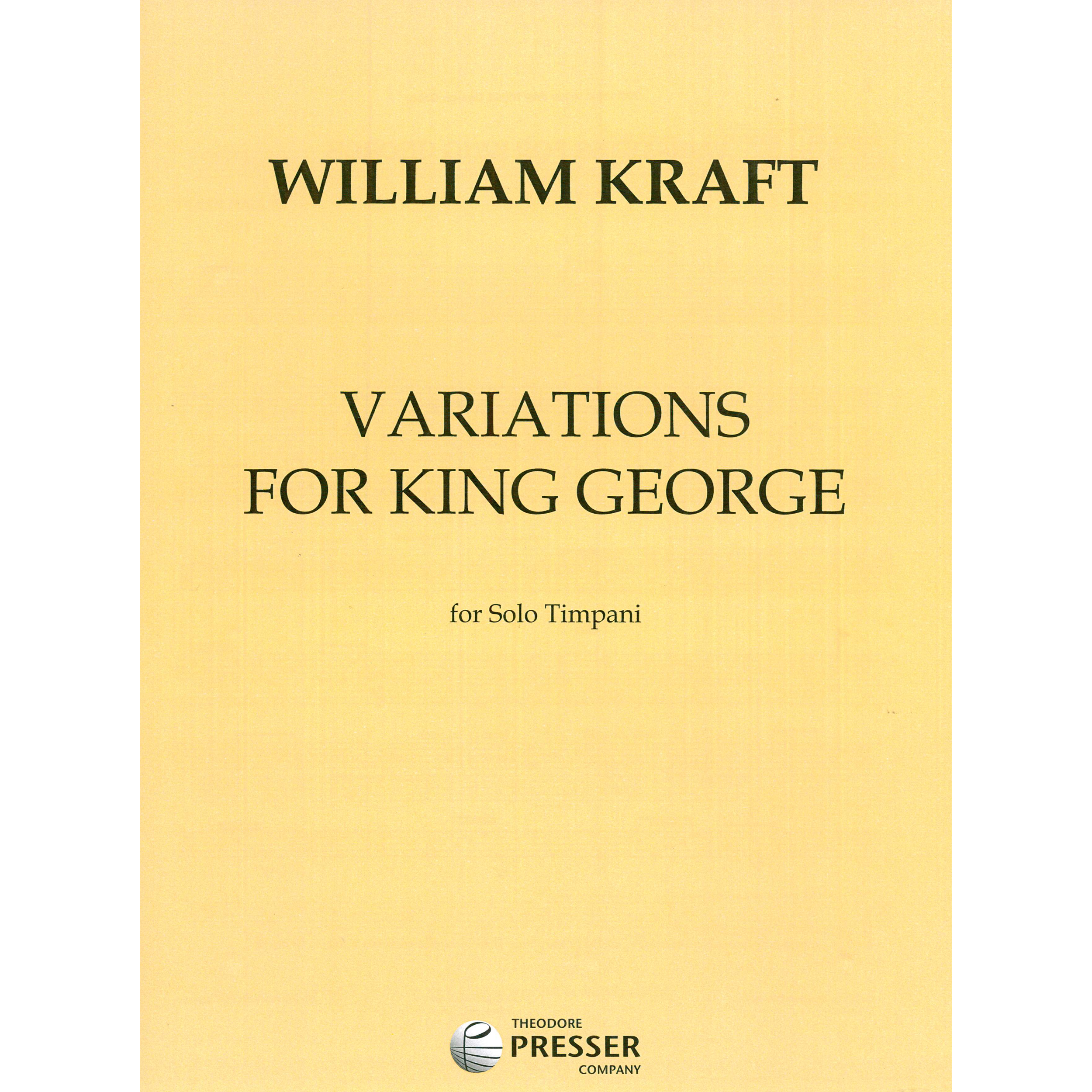 Variations for King George by William Kraft